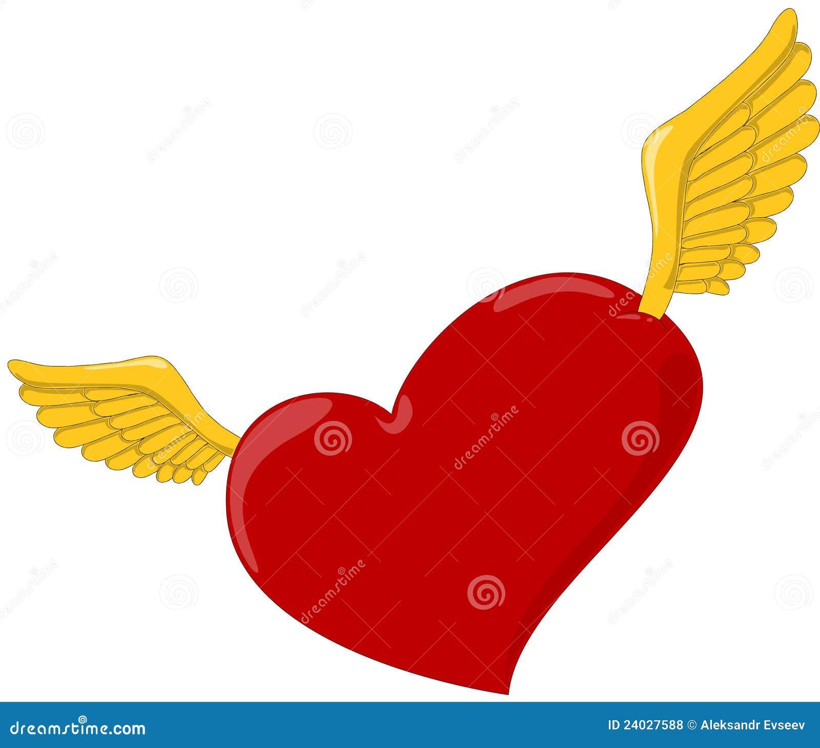 coeur avec des ailes photos libres de droits image 24027588. Black Bedroom Furniture Sets. Home Design Ideas