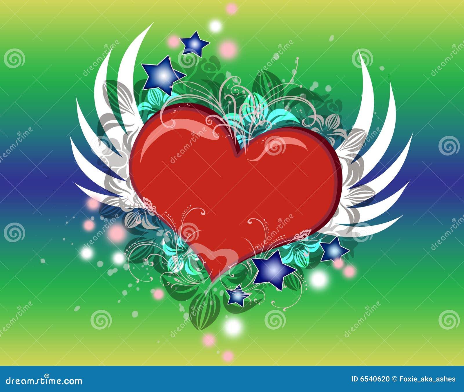 Coeur avec des ailes photo stock image 6540620 - Coeur avec des photos ...