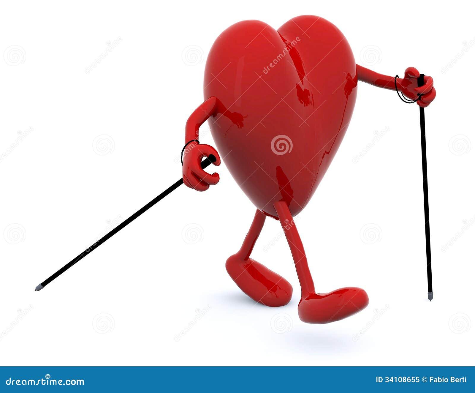 Coeur avec des bras des jambes et des b tons illustration - Coeur avec des photos ...
