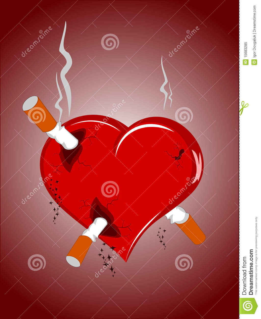 coeur avec des cigarettes photo libre de droits image. Black Bedroom Furniture Sets. Home Design Ideas