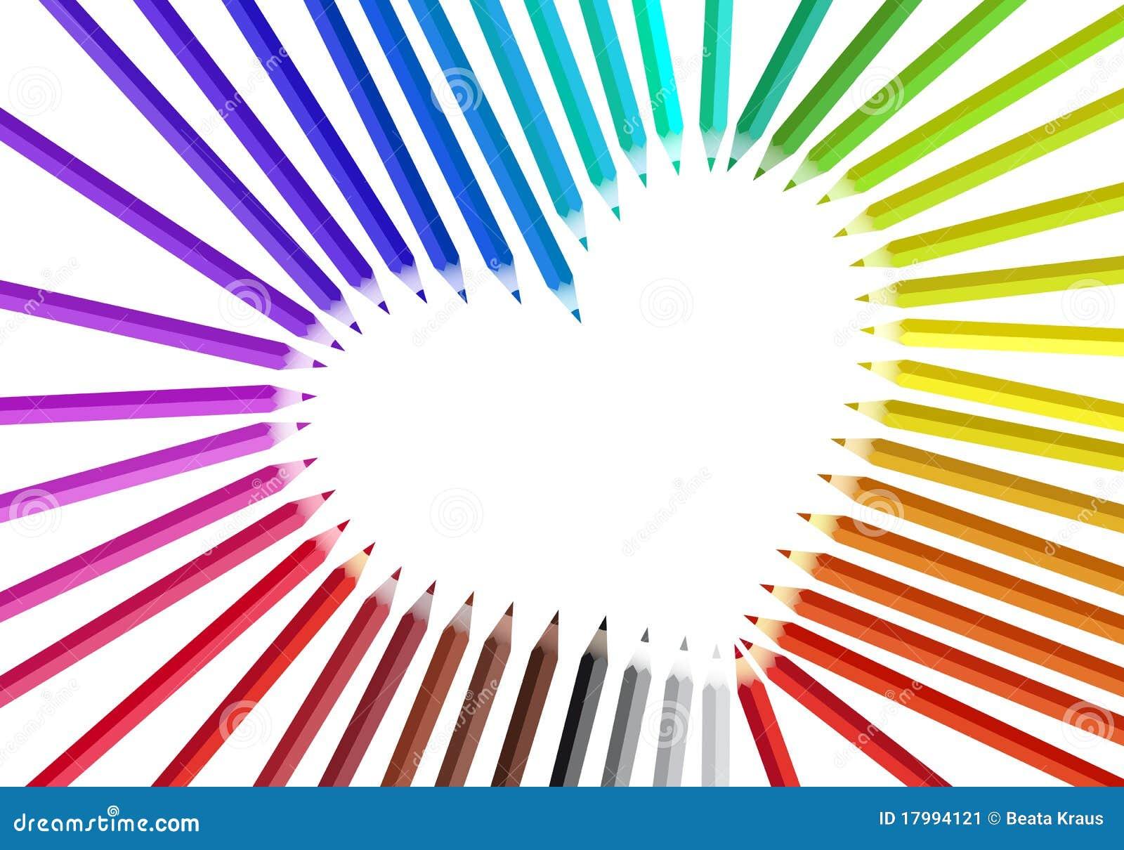 coeur avec des crayons de couleur illustration de vecteur illustration du cr ateur orange. Black Bedroom Furniture Sets. Home Design Ideas