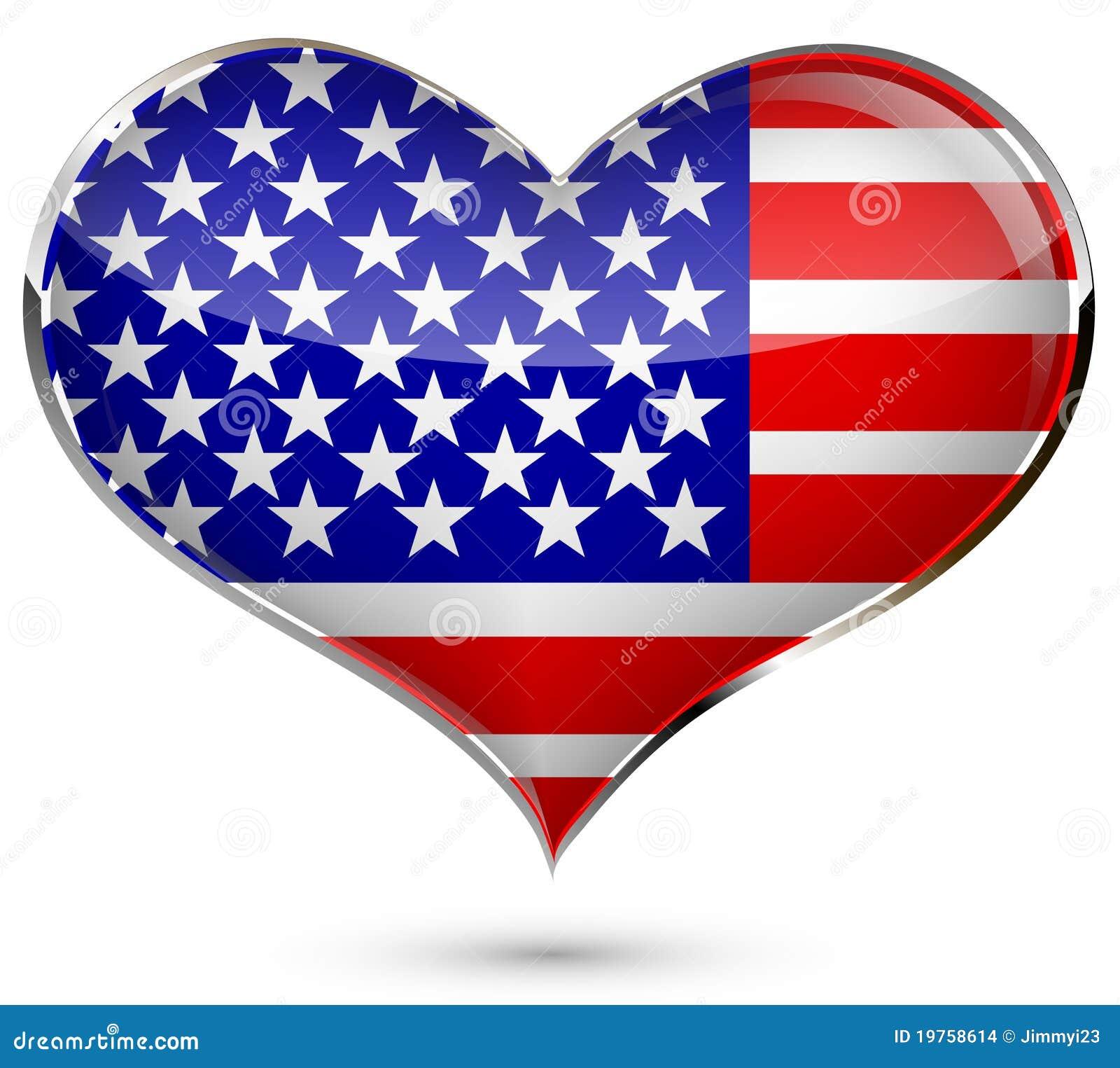 Coeur avec l 39 indicateur des etats unis illustration de vecteur illustration du indicateur - Coeur avec des photos ...