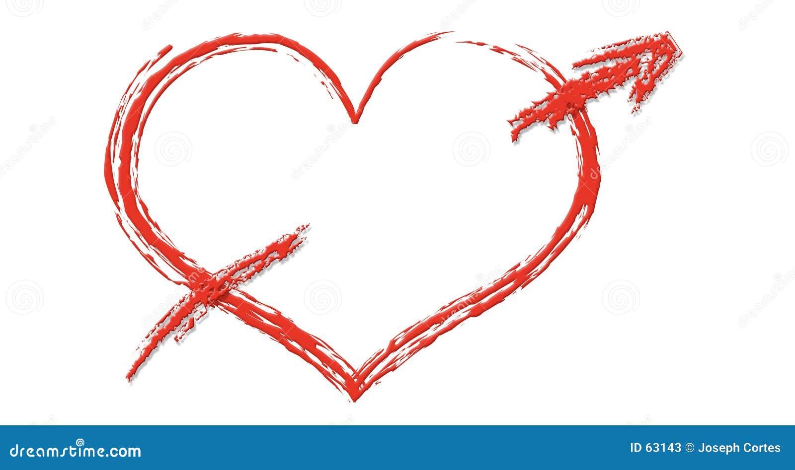 Download Coeur avec la flèche illustration stock. Illustration du percez - 63143