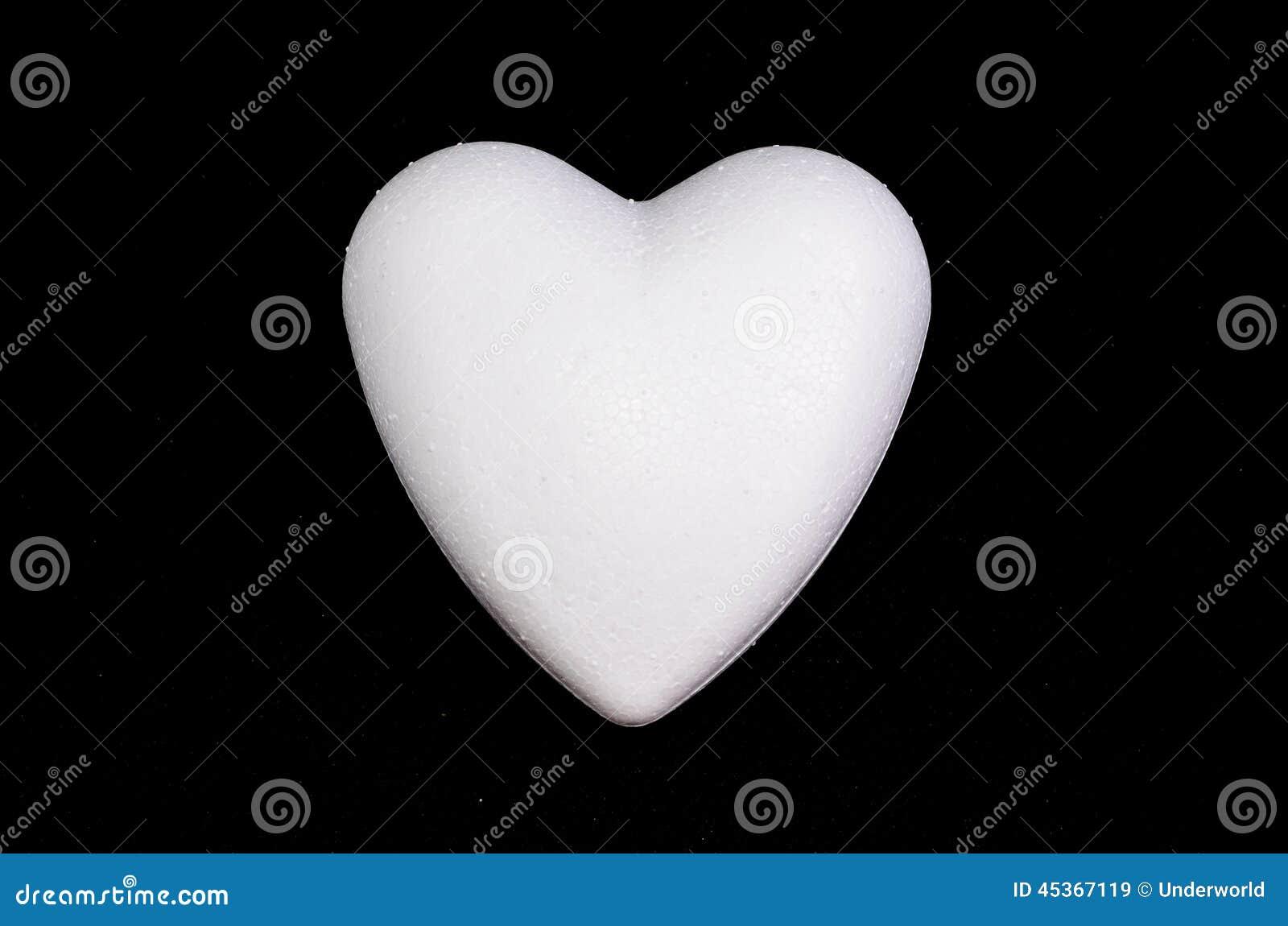 Coeur blanc de polystyrène