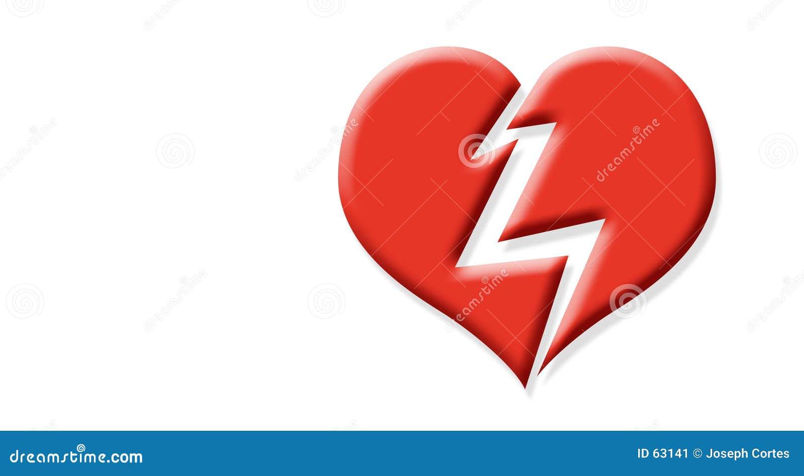 Download Coeur cassé illustration stock. Illustration du dérangé - 63141