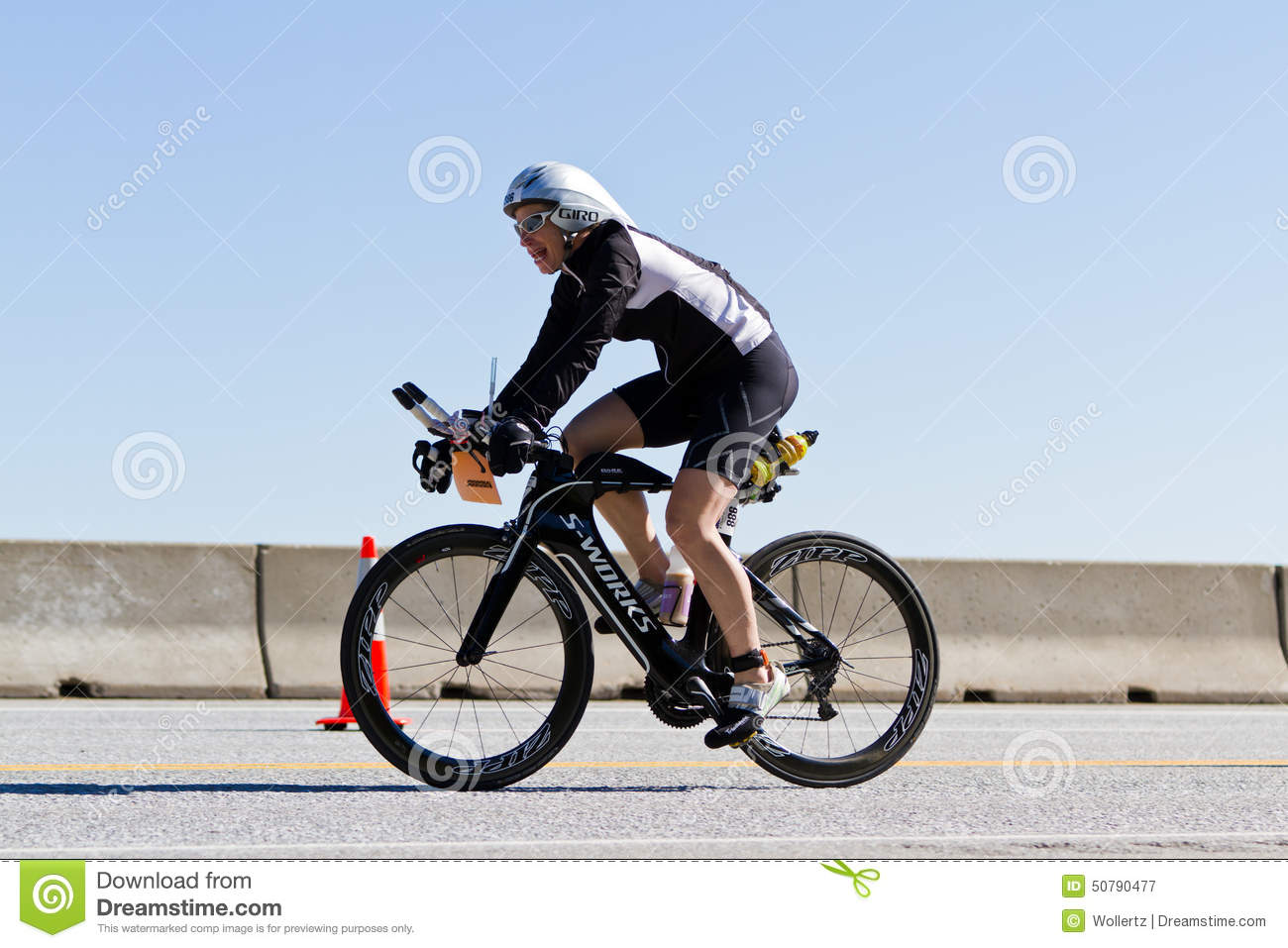 Coeur D' Alene Ironman Cycling Event Editorial Photography