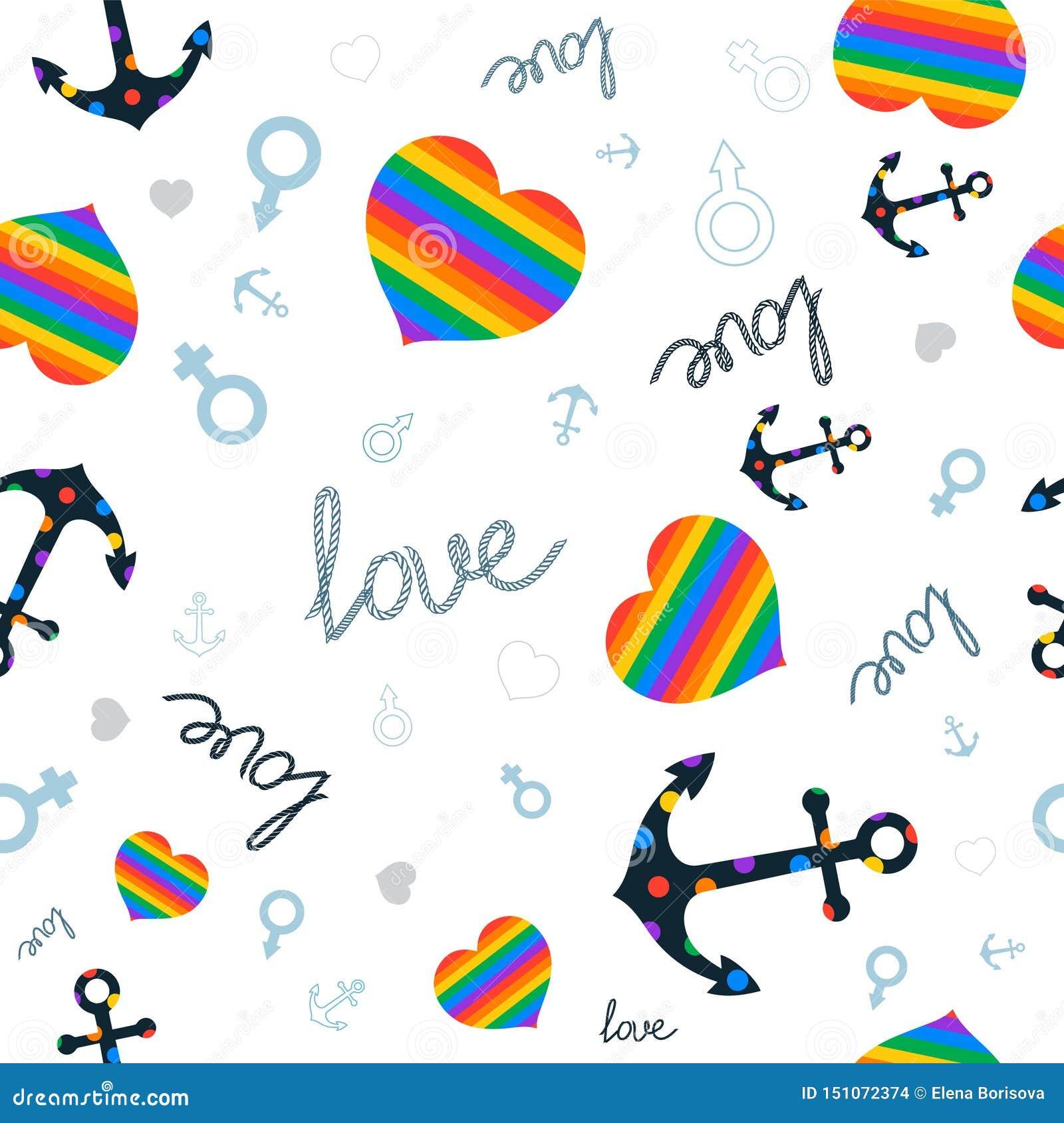 Coeur d amour de symbole et lgbt d ancre