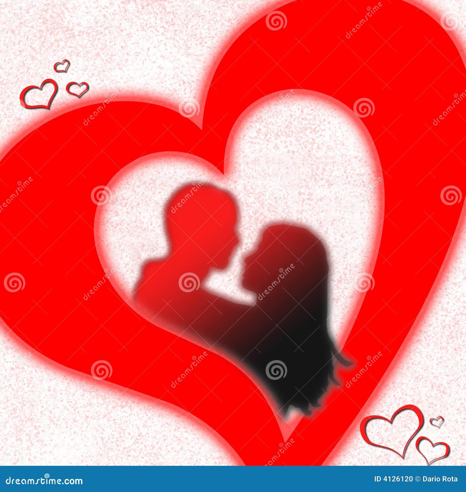 Coeur d 39 amoureux photo stock image 4126120 - Un coeur amoureux ...