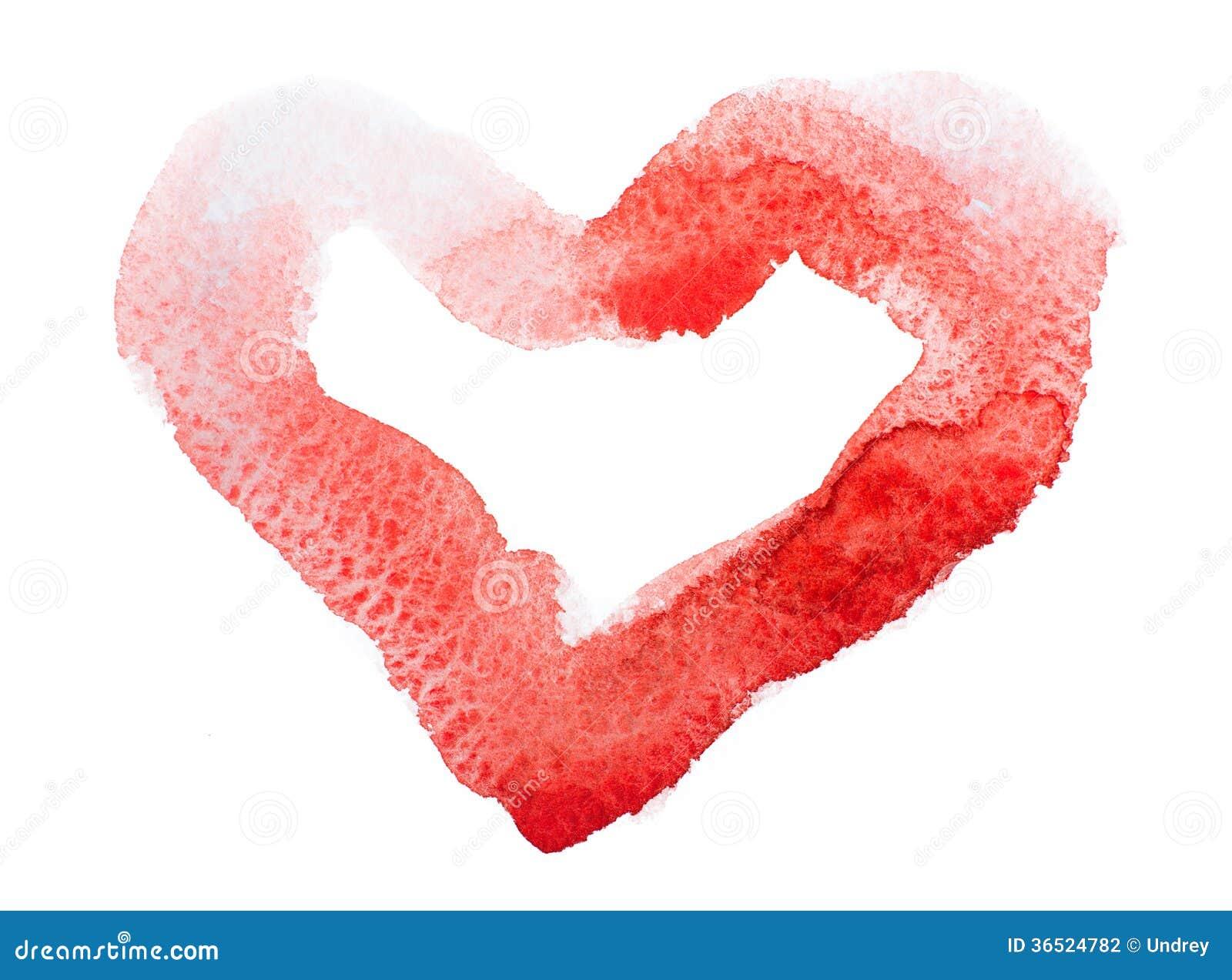 Coeur d aquarelle. Concept - amour, relations,