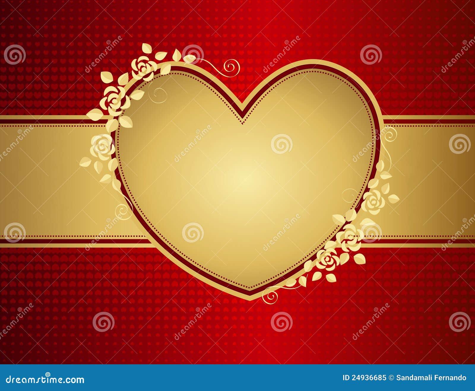 Coeur d or floral d amour