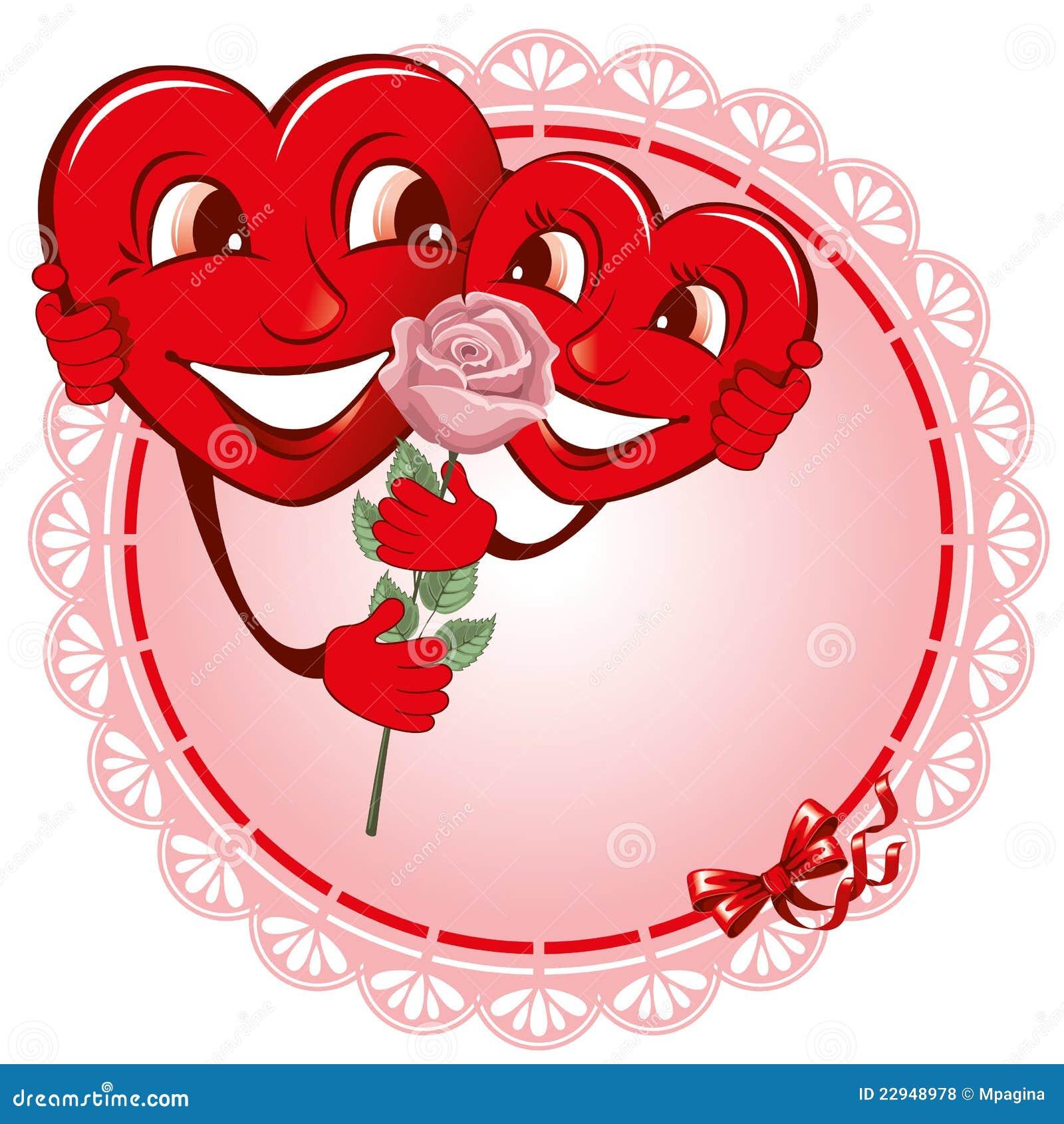 Coeur de deux amoureux illustration de vecteur - Coeurs amoureux ...