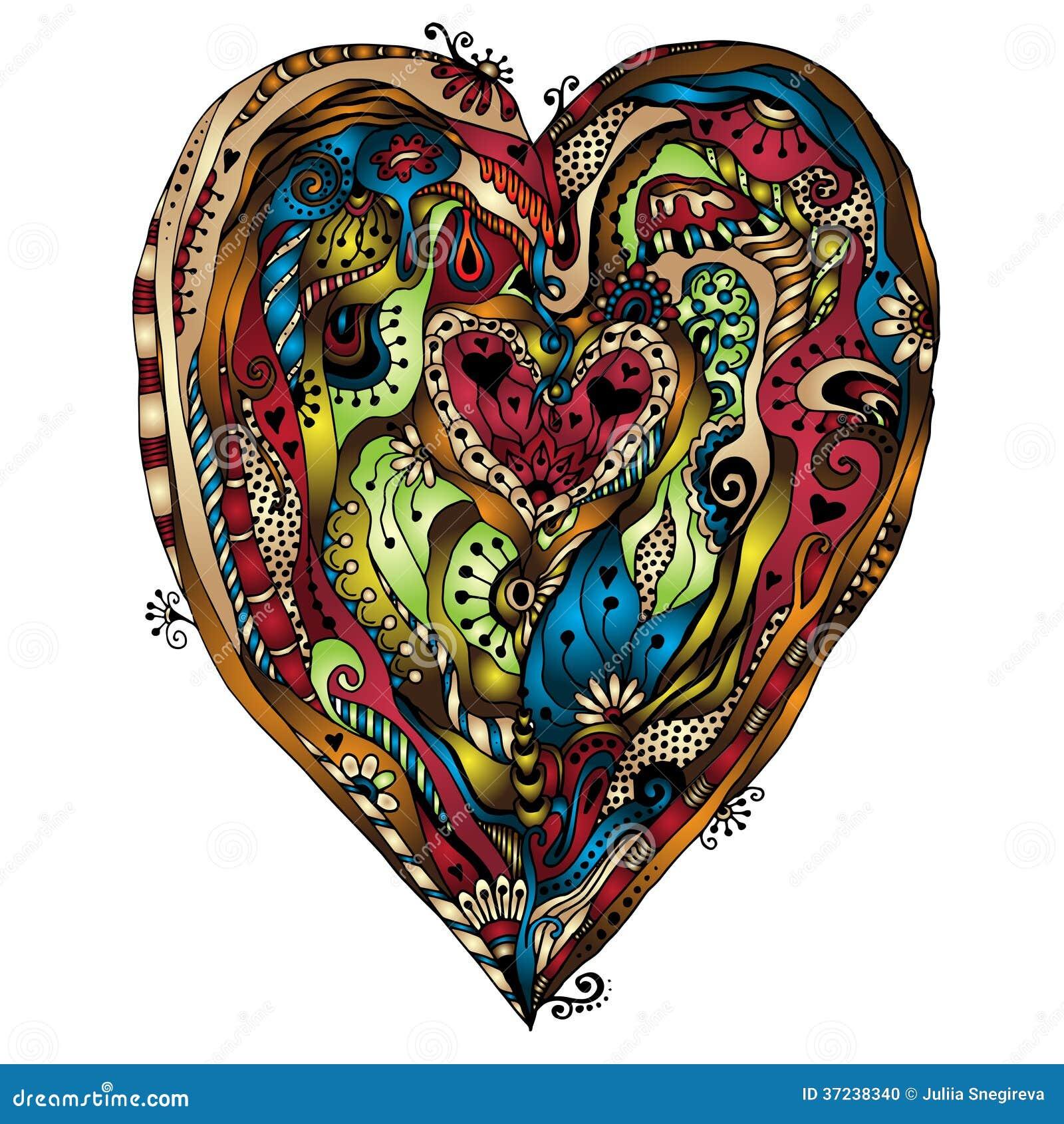 coeur de doddle de dessin original