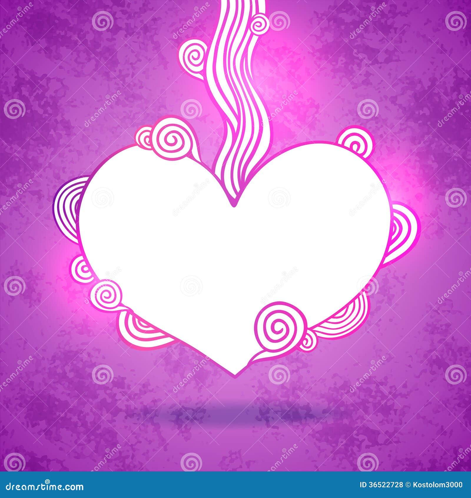 Coeur de griffonnage. Illustration de vecteur de jour de valentines