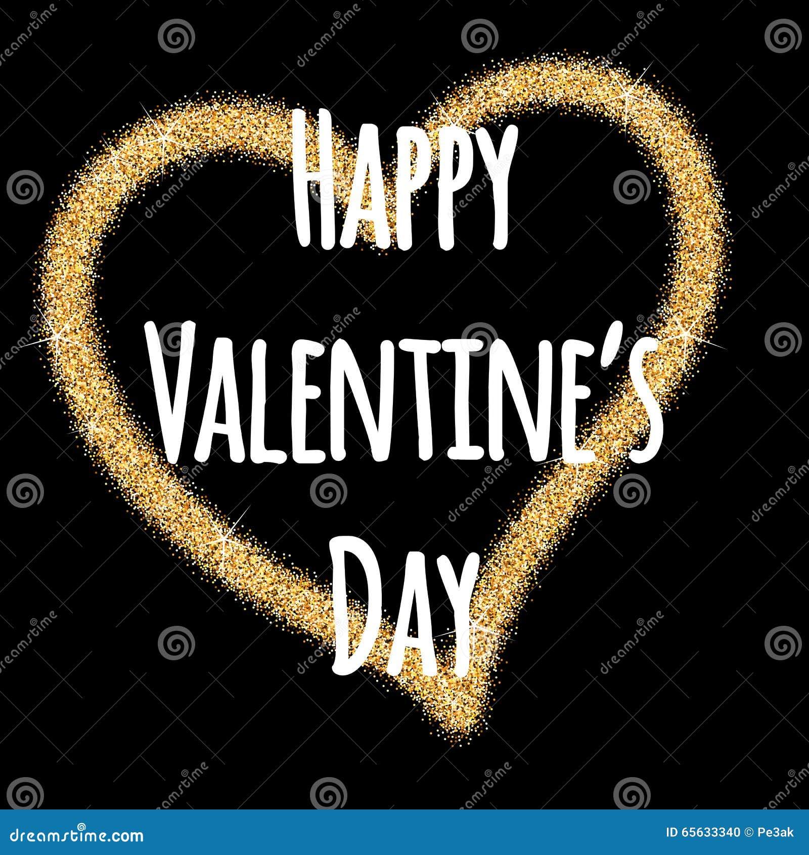 Coeur de jour de valentines de scintillement Le jour de Valentine Fond de vecteur