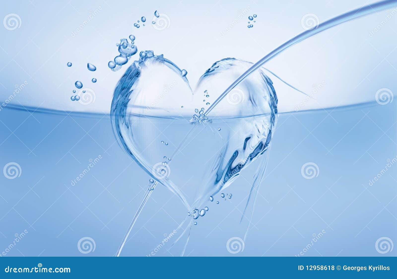 Coeur de l eau dans l onde