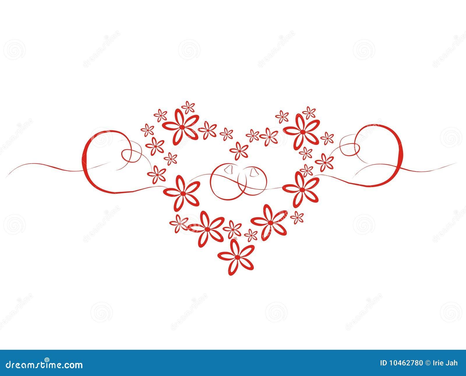 Coeur de mariage avec des fleurs photo stock image 10462780 - Coeur avec des photos ...