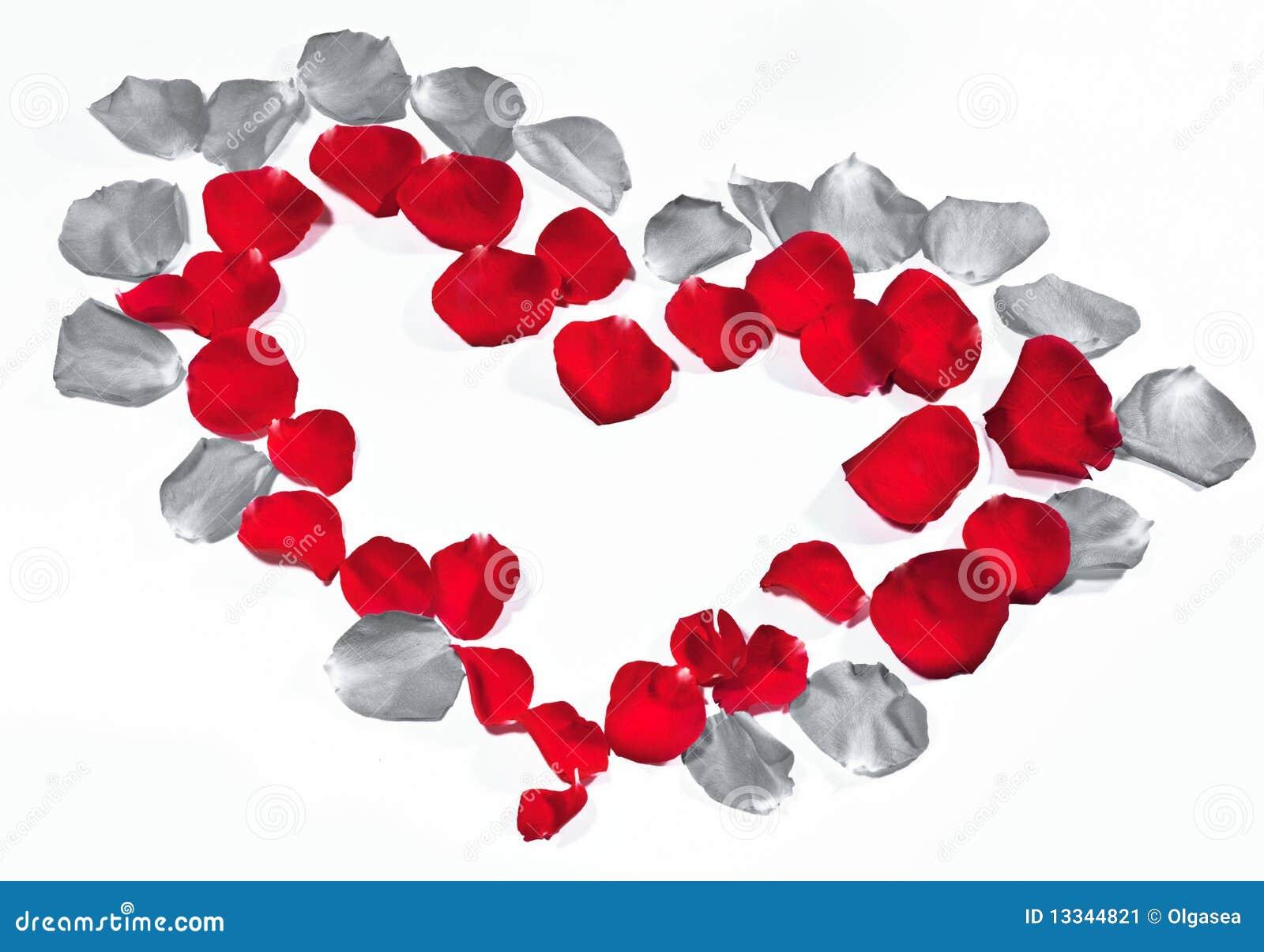 Coeur de p tale de rose image stock image du lame rose 13344821 - Petale de rose comestible ...