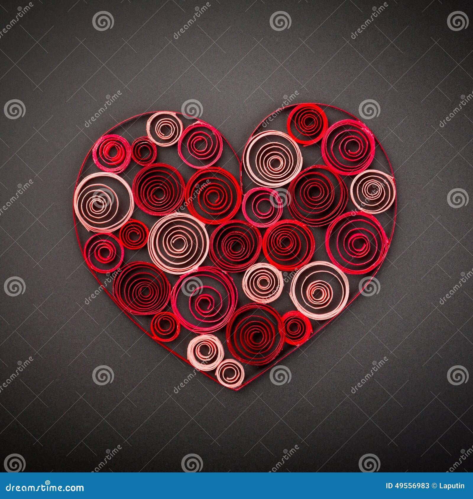 Coeur De Papier Quilling Pour La Saint Valentin
