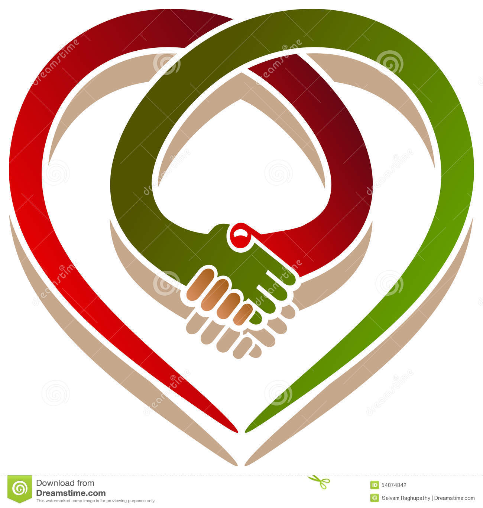 Coeur de poignée de main