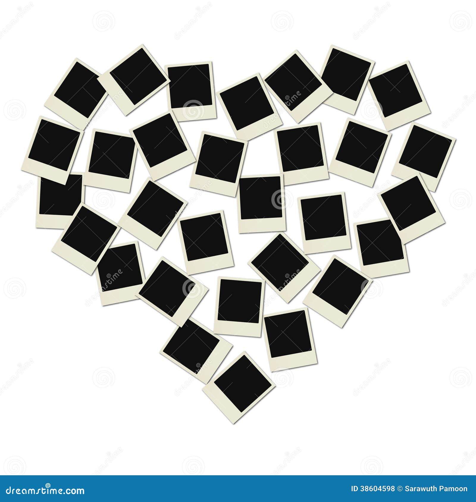 coeur de polaro d d 39 amour illustration stock illustration du historique 38604598. Black Bedroom Furniture Sets. Home Design Ideas