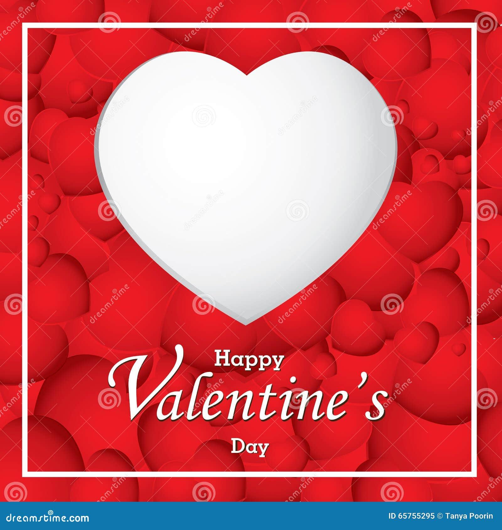 coeur de saint-valentin et de blanc sur le fond rouge de coeur saint