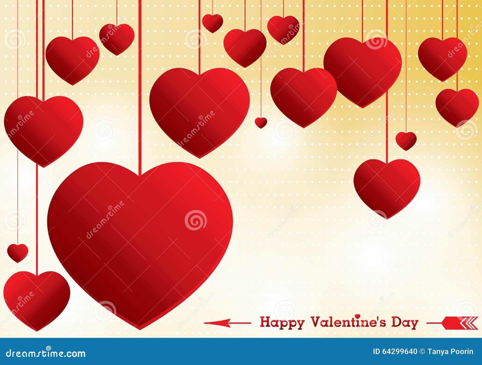 Coeur de saint valentin et de rouge sur le fond jaune fond - Coeur st valentin ...