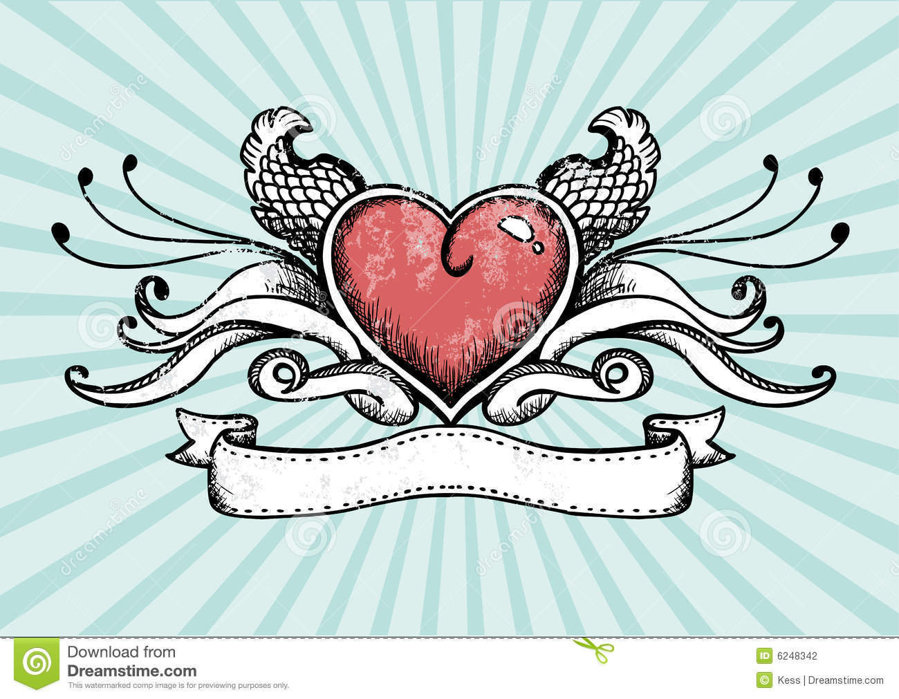 Coeur de tatouage illustration de vecteur illustration du - Image tatouage coeur ...