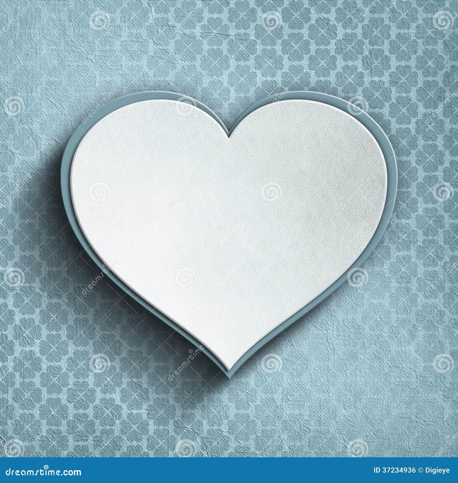 Coeur de Valentine sur le fond modelé