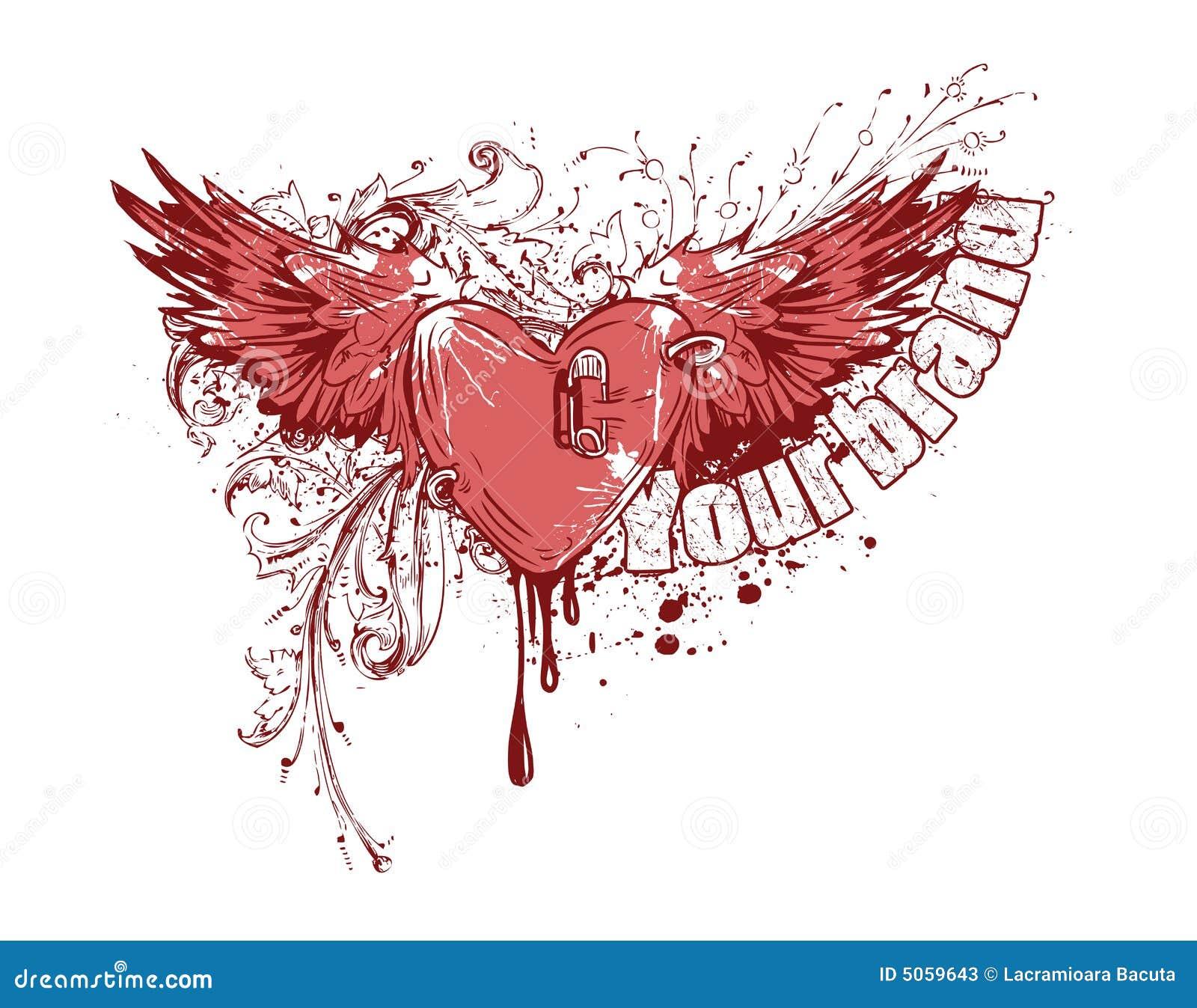 coeur de vol avec des ailes illustration de vecteur illustration du vous illustration 5059643. Black Bedroom Furniture Sets. Home Design Ideas