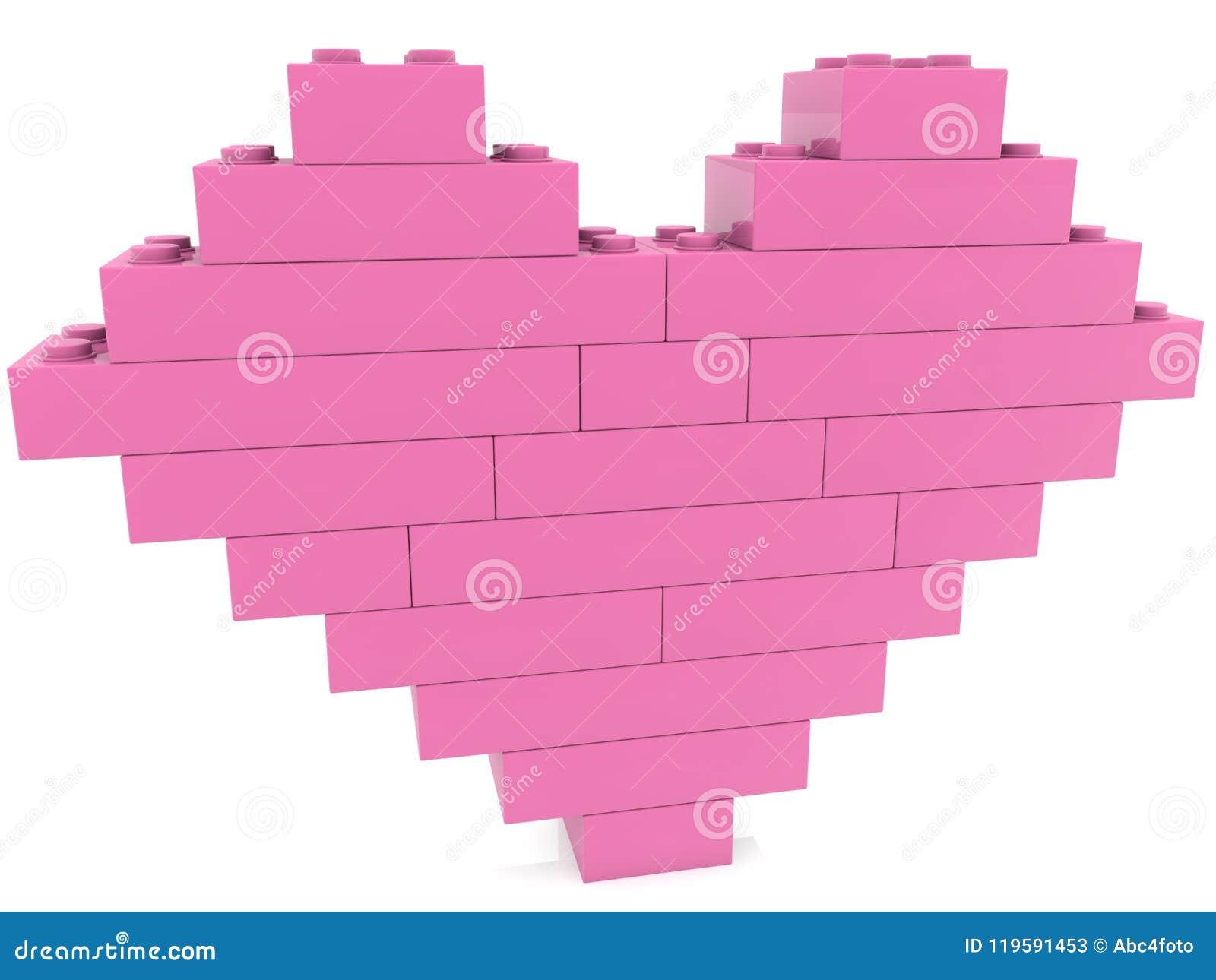 Coeur des briques de jouet