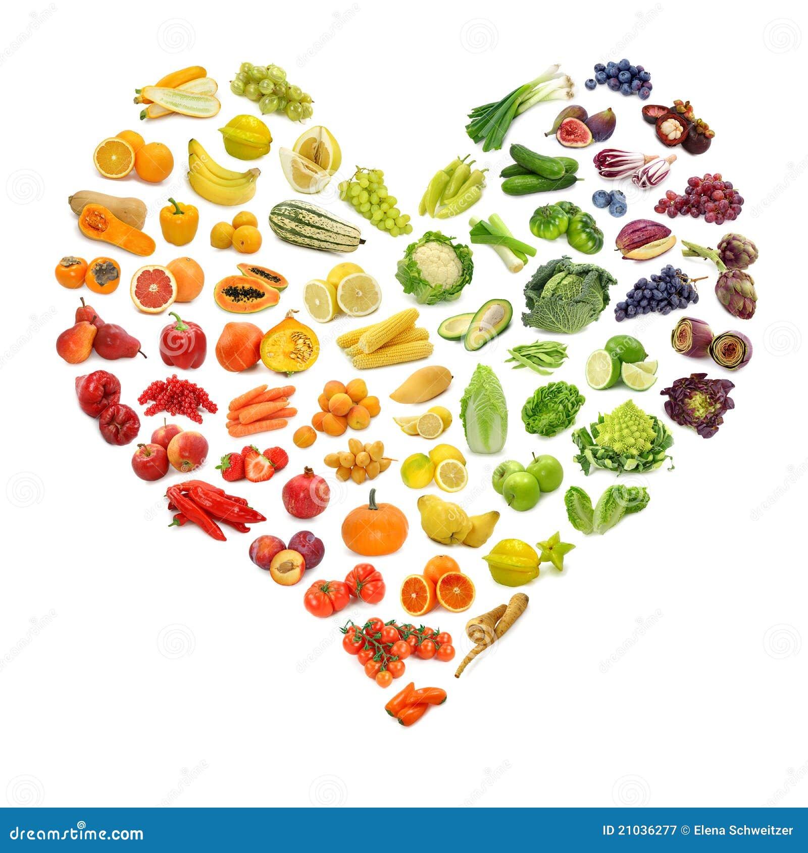 Coeur des fruits et légumes