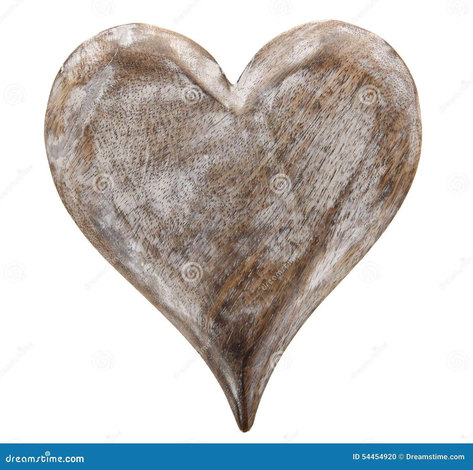 coeur en bois photo stock image du blanc g forme 54454920. Black Bedroom Furniture Sets. Home Design Ideas