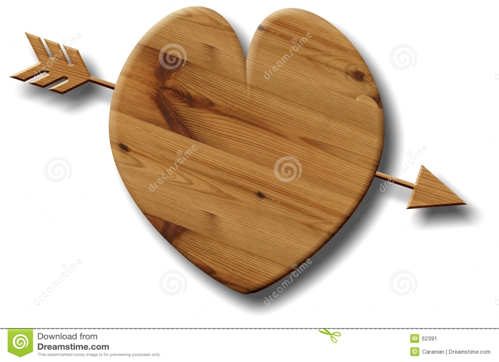 Download Coeur en bois illustration stock. Illustration du loved - 62391