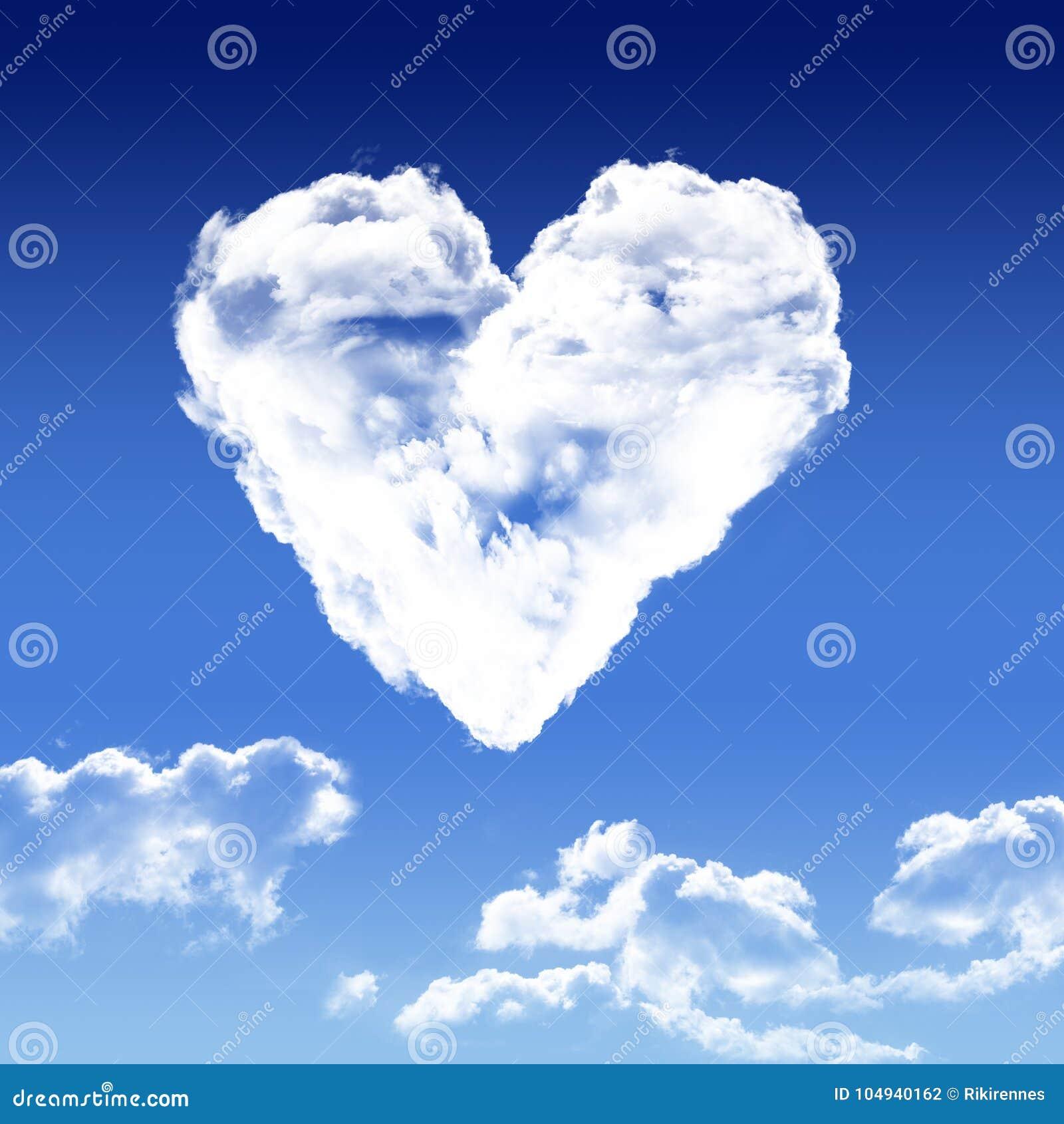 Coeur En Forme De Nuage Stock De Ilustración Ilustración De