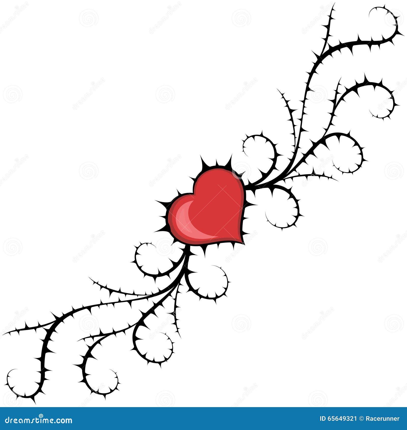Coeur et buisson abstraits Élément de vecteur
