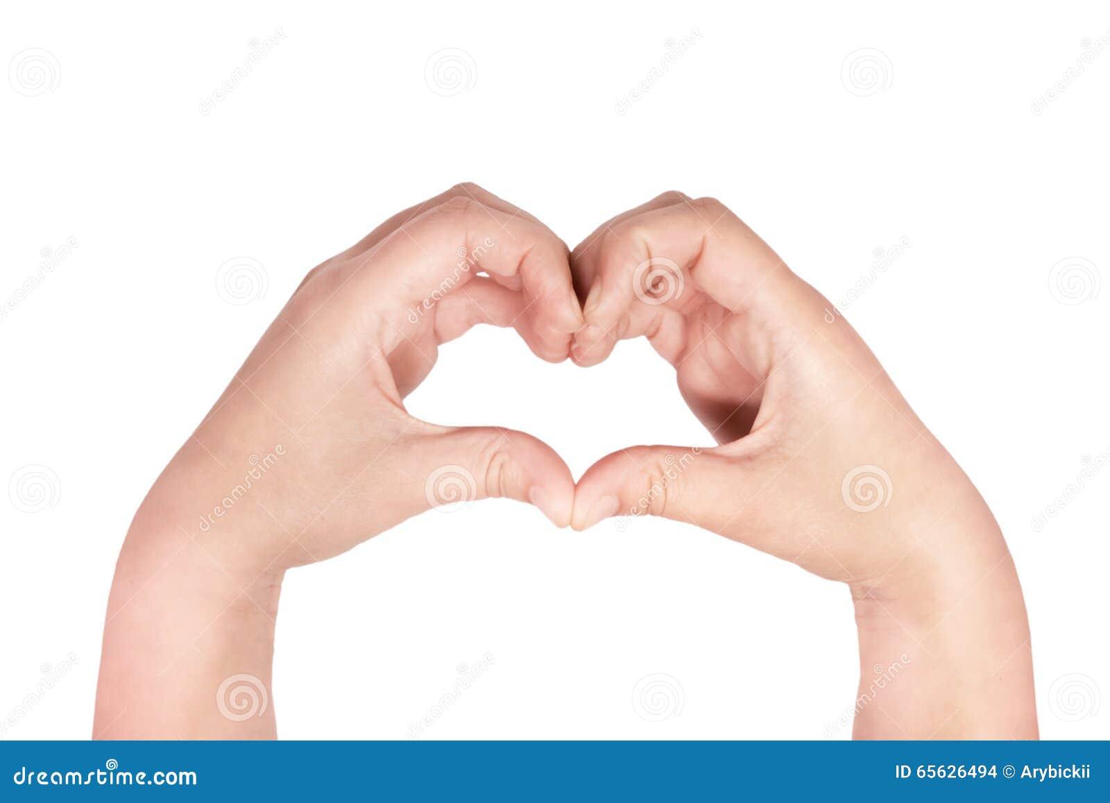 Coeur fait avec des mains