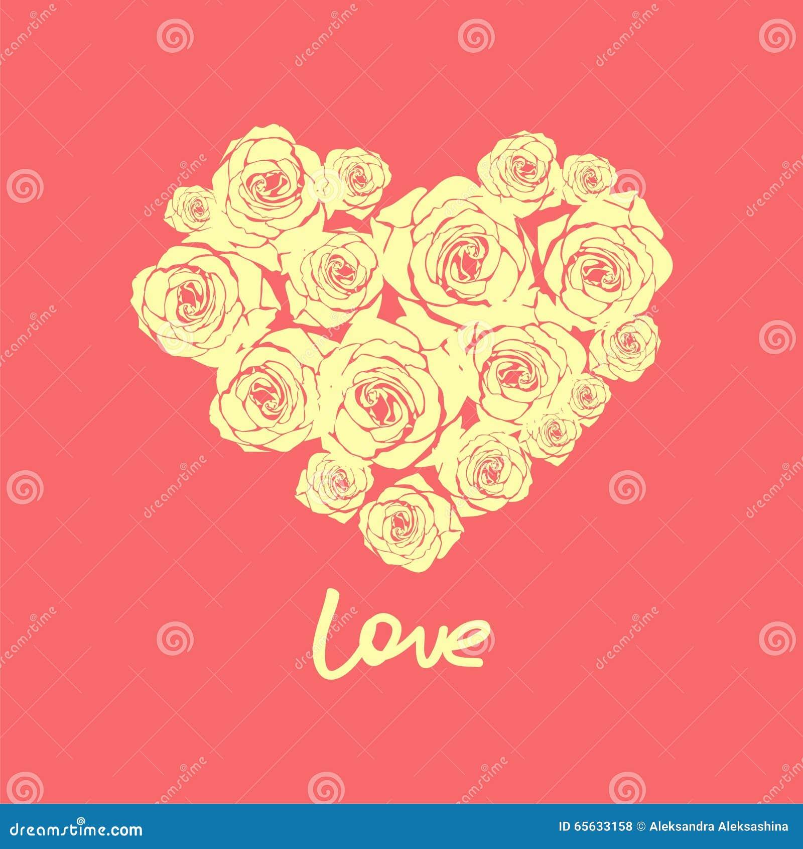 Coeur floral de vecteur pour le jour de valentines