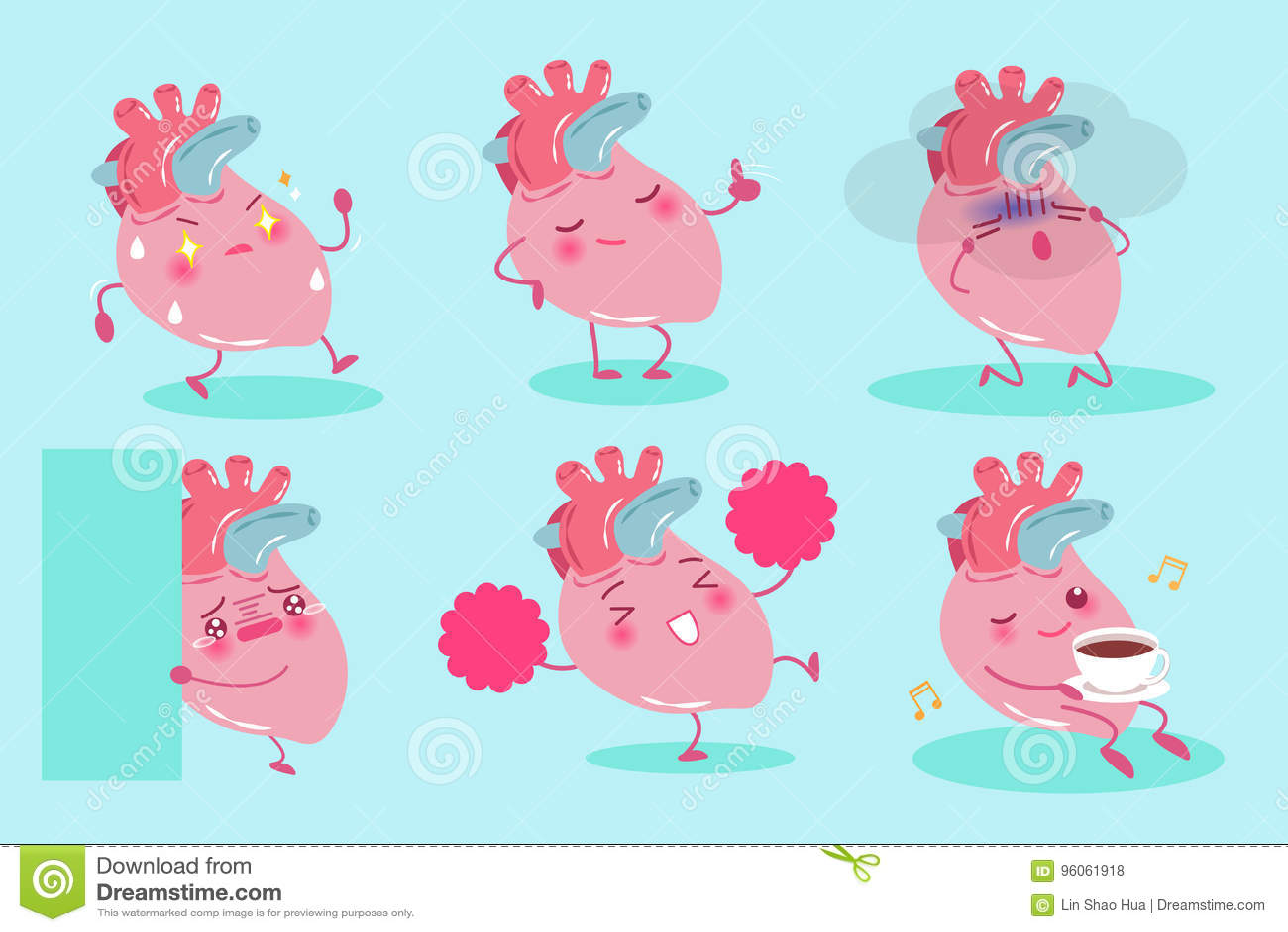 Coeur mignon de dessin animé