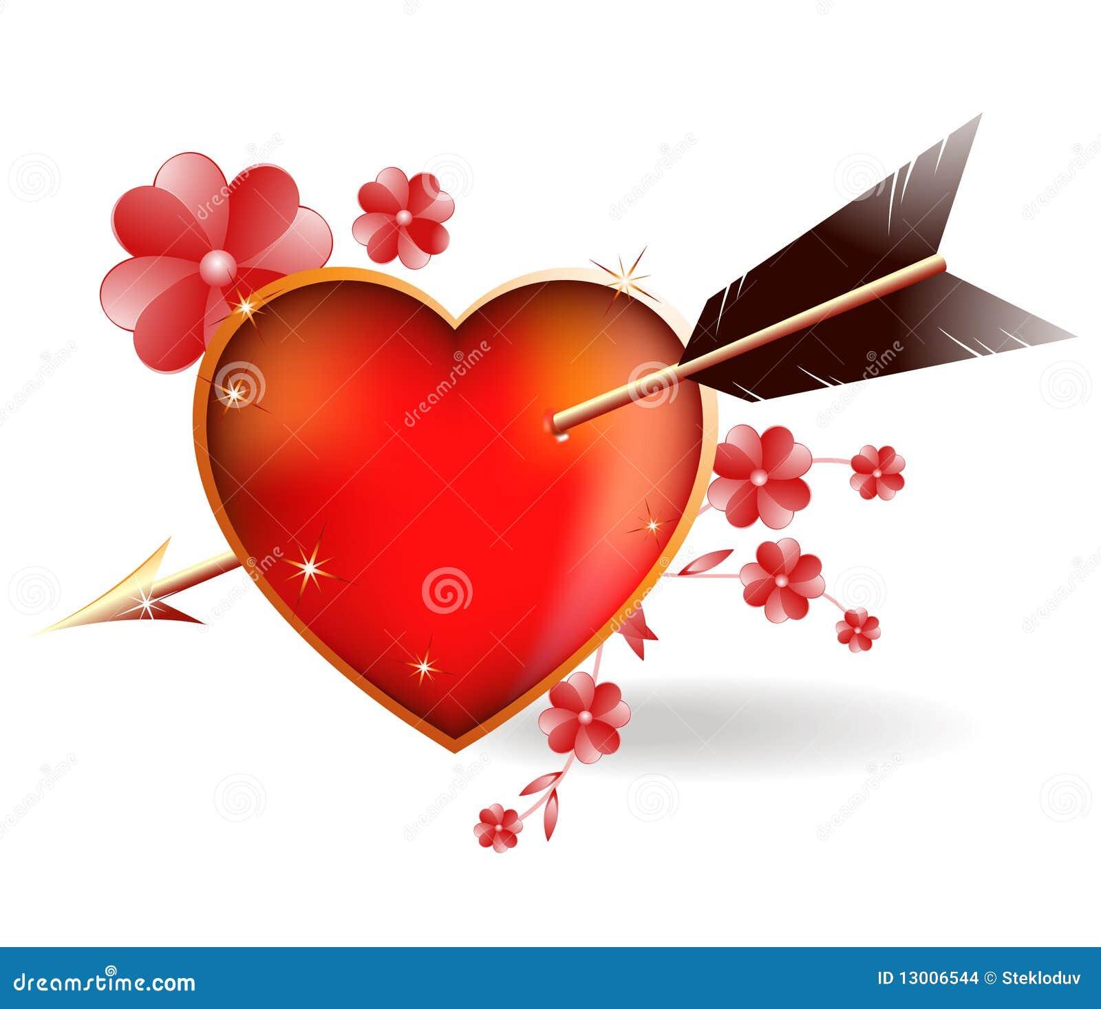 Coeur perc par un cupidon de fl che illustration de vecteur illustration du couleur dessin - Image de cupidon gratuite ...