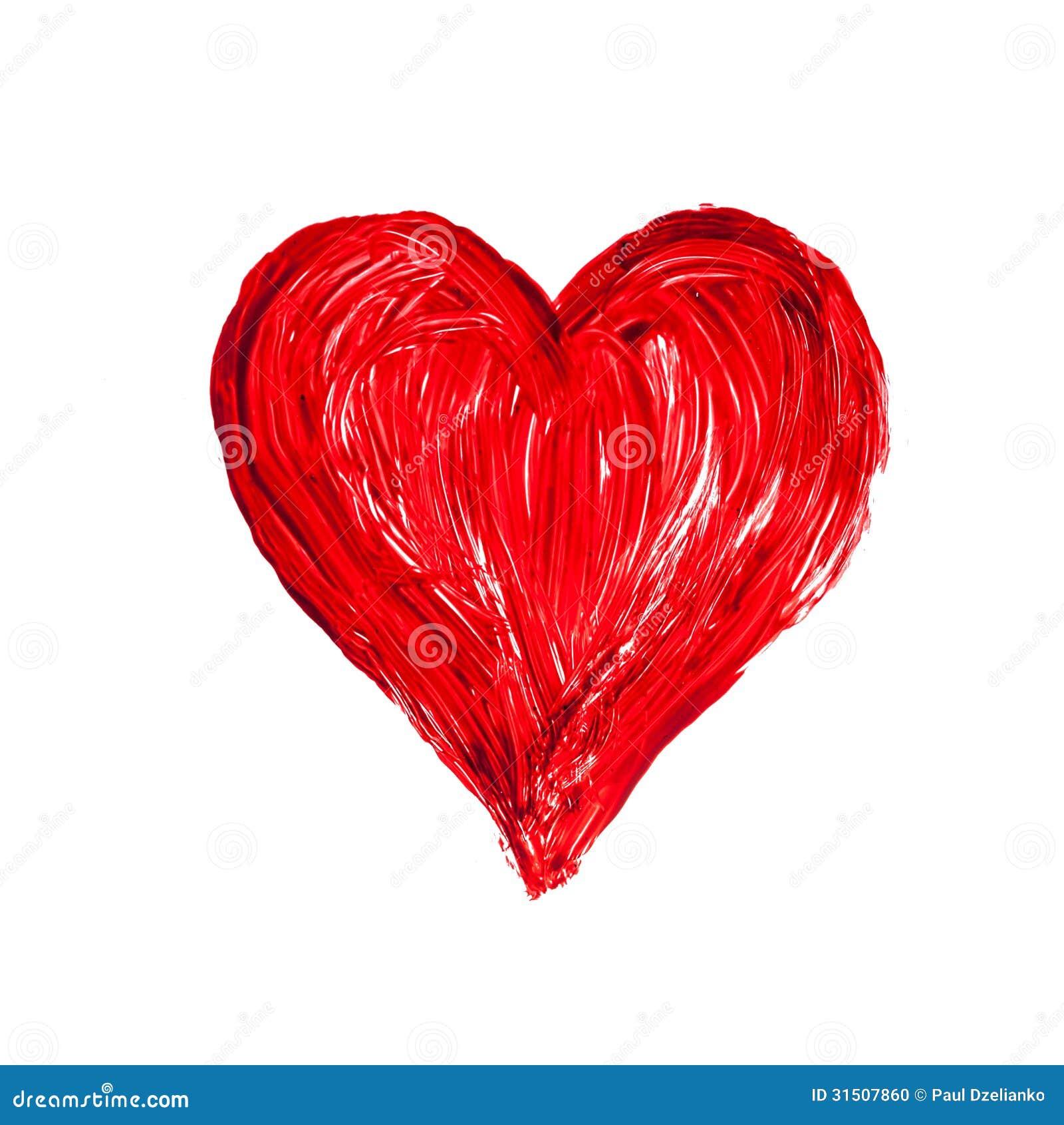 Coeur romantique d 39 amour sur un fond blanc photo stock image du photo enamour 31507860 - Un gros coeur d amour ...