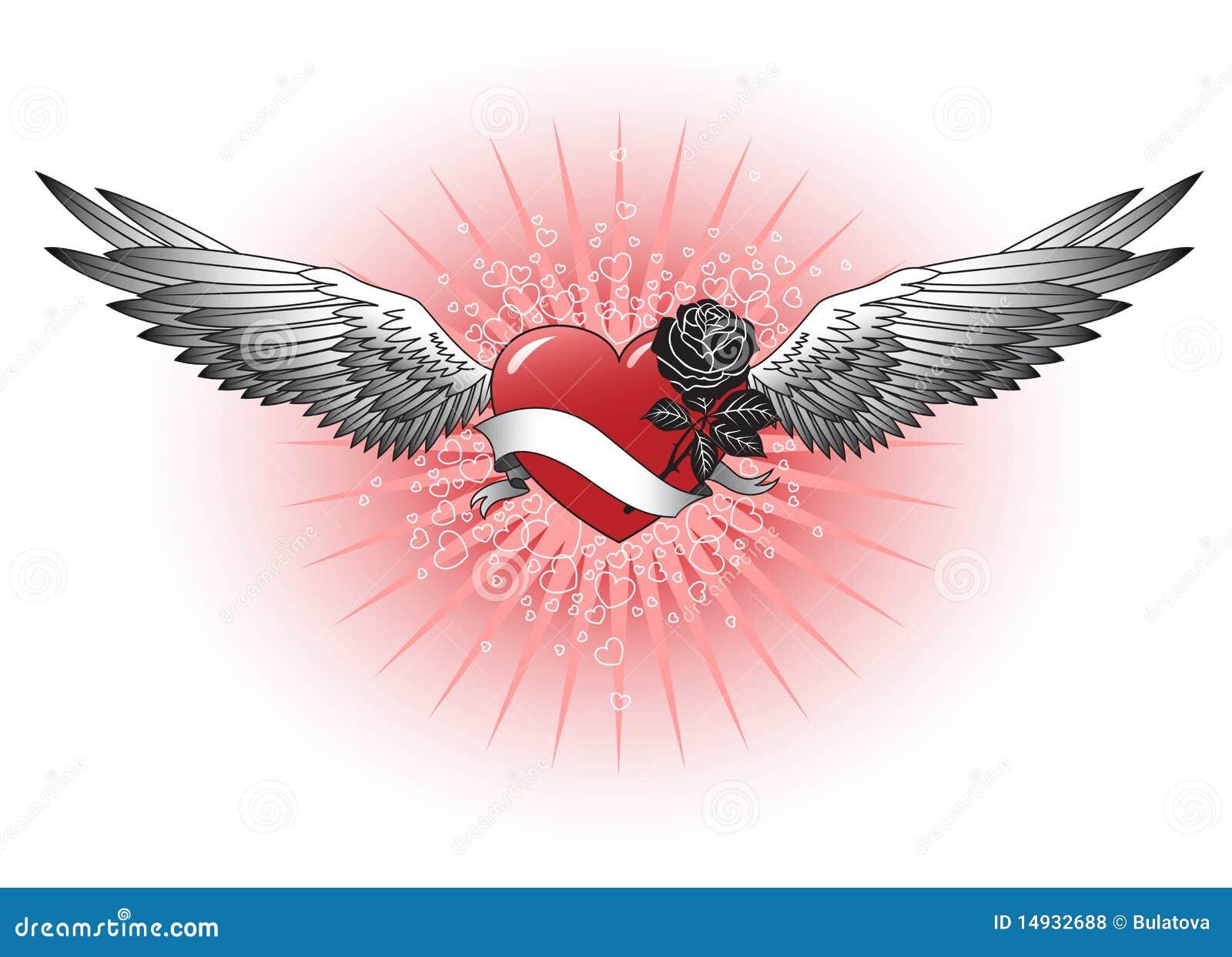 Coeur rouge avec des ailes photos libres de droits image 14932688 - Coeur avec des photos ...