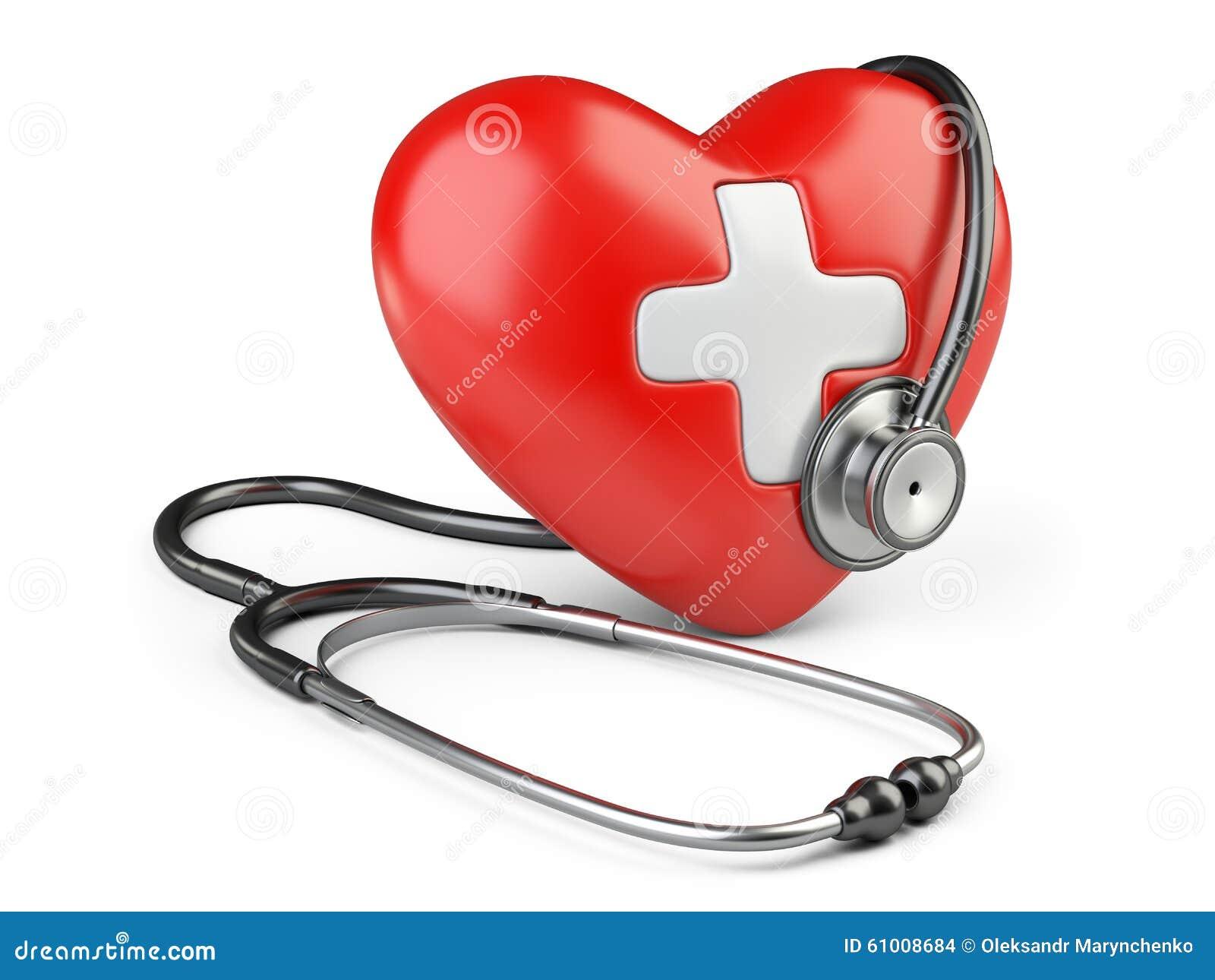coeur rouge avec la croix blanche et un st thoscope illustration stock image 61008684. Black Bedroom Furniture Sets. Home Design Ideas