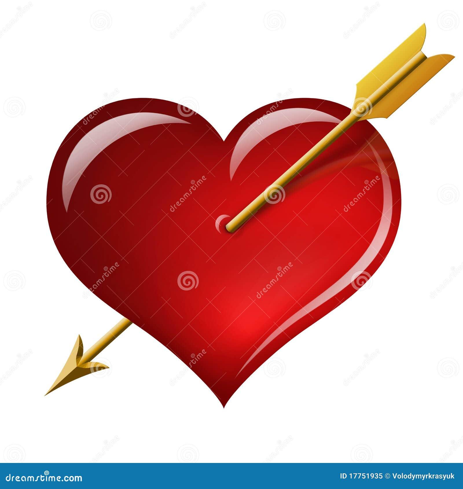Coeur rouge avec une fl che du cupidon illustration stock image 17751935 - Coeur avec des photos ...