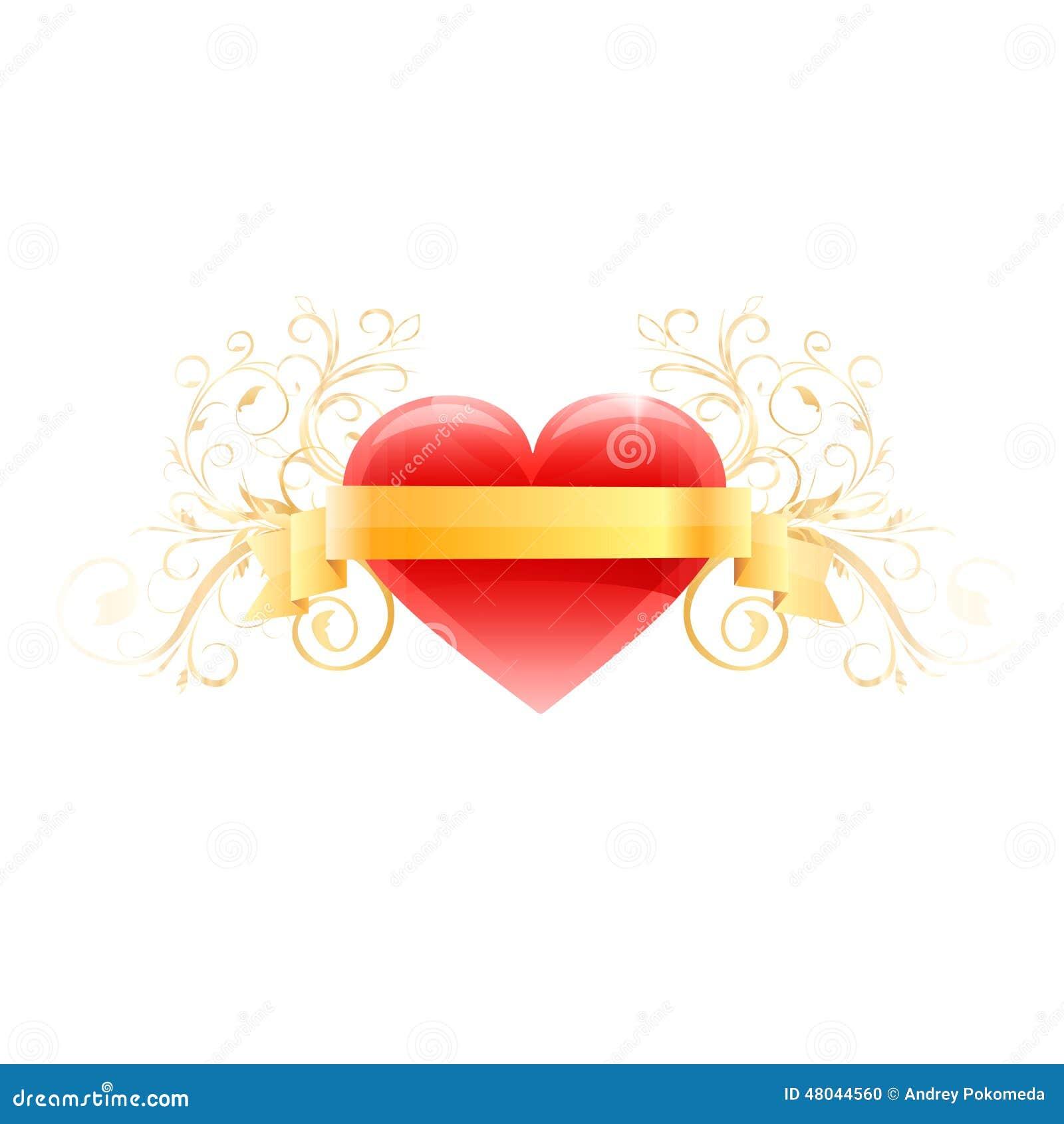 Coeur rouge d 39 amour vecteur illustration de vecteur - Decoration coeur rouge ...