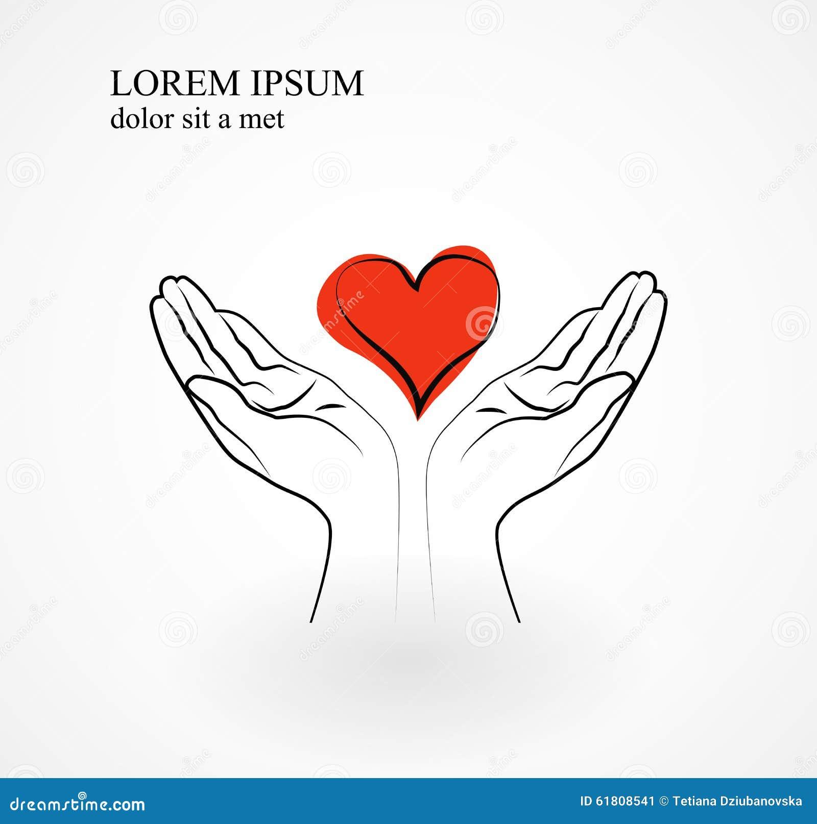 Relativ Coeur Rouge Dans Des Mains Symbole De L'amour, De La Gratitude Et  UB71