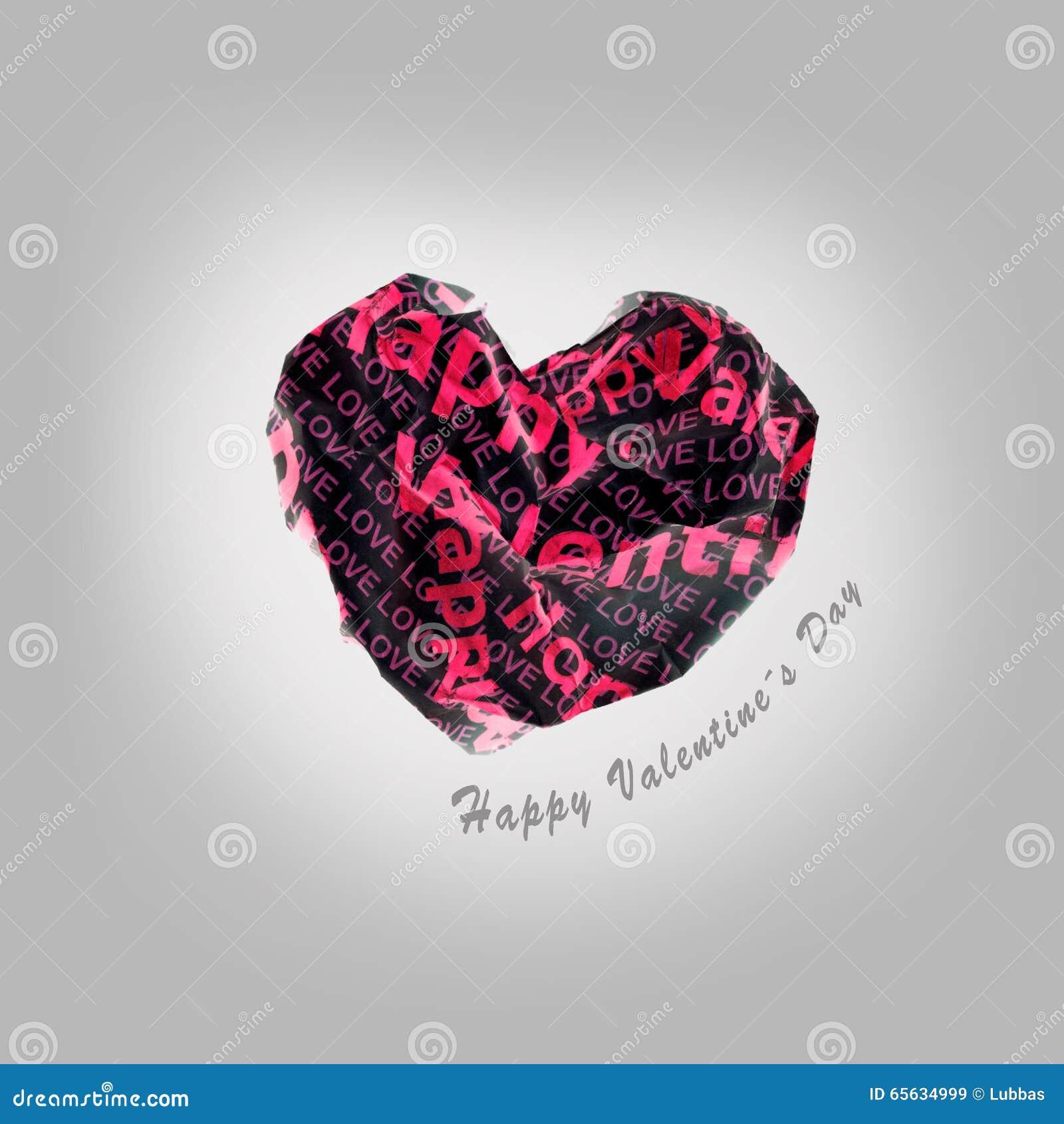 Coeur rouge de papier sexy de valentine sur le fond gris