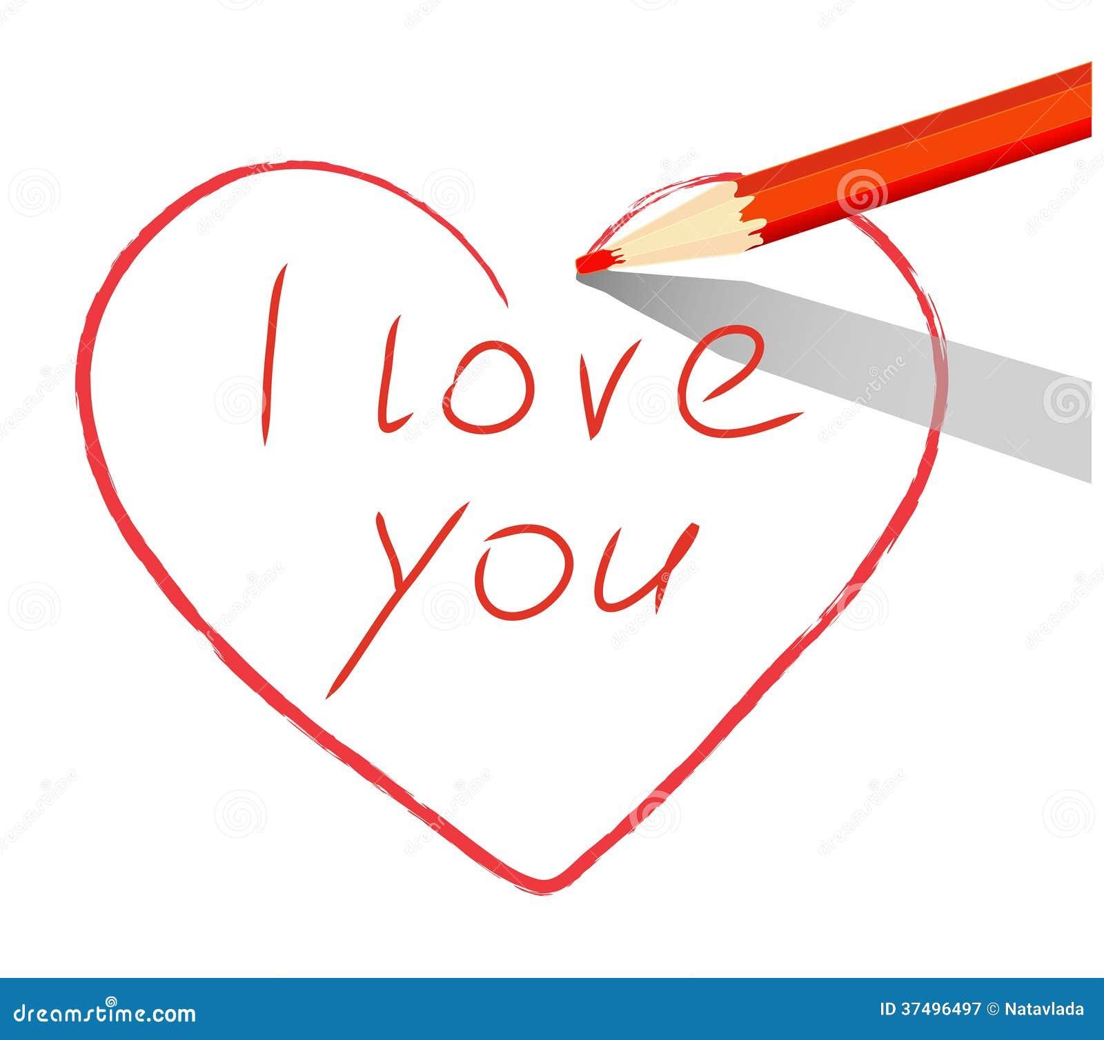 coeur rouge dessin avec le crayon je t 39 aime photographie. Black Bedroom Furniture Sets. Home Design Ideas