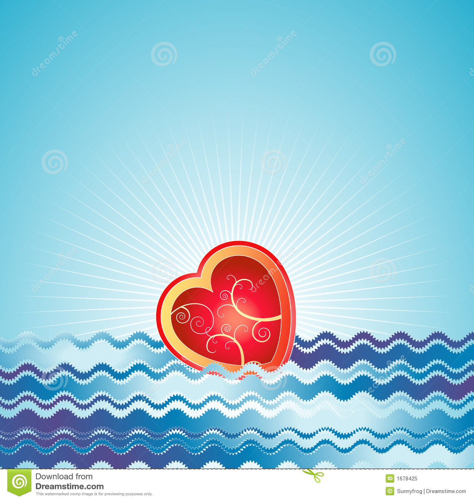 Coeur rouge, vecteur, valentines