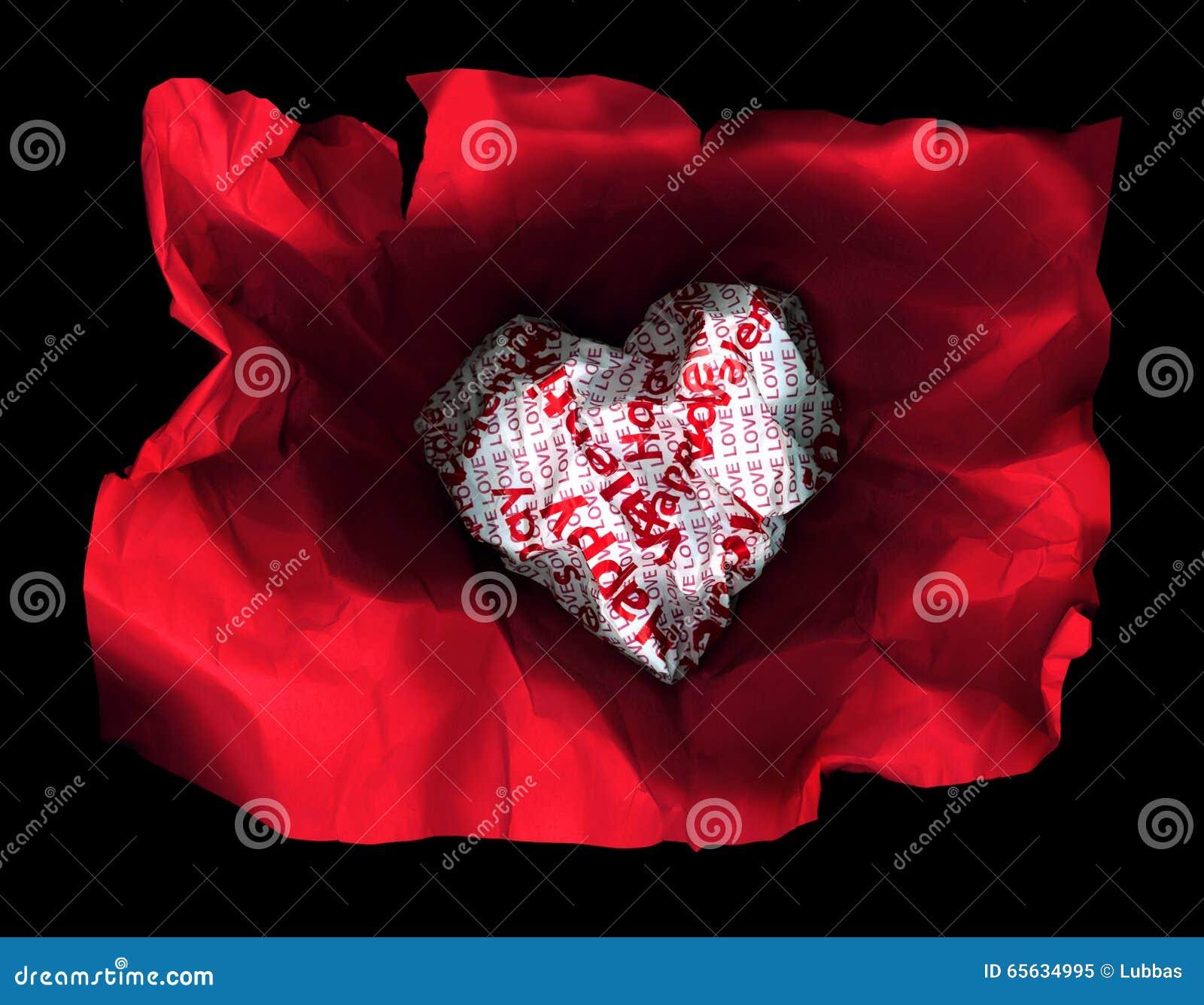 Coeur sexy de rouge de papier de valentines