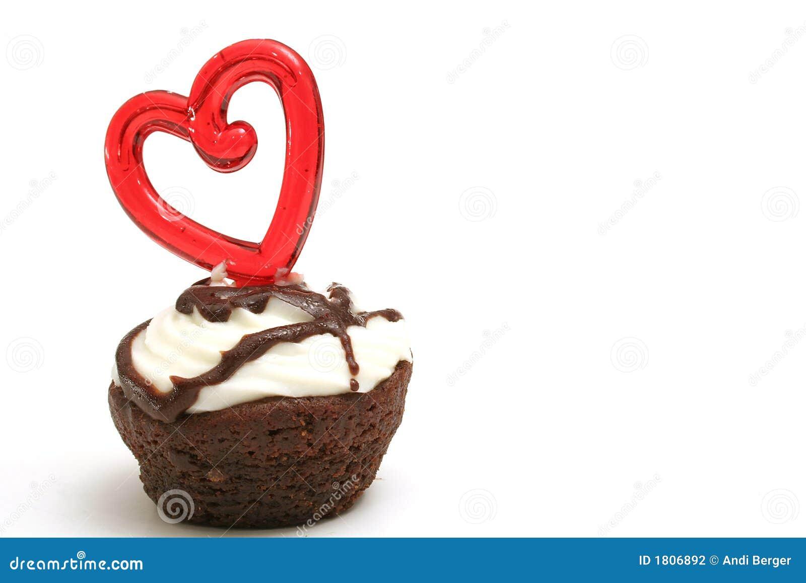 Coeur simple de dégagement de  brownie
